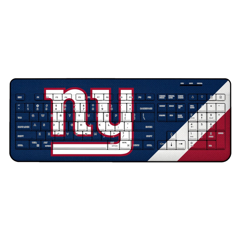 New York Giants Diagonal Stripe Wireless Keyboard