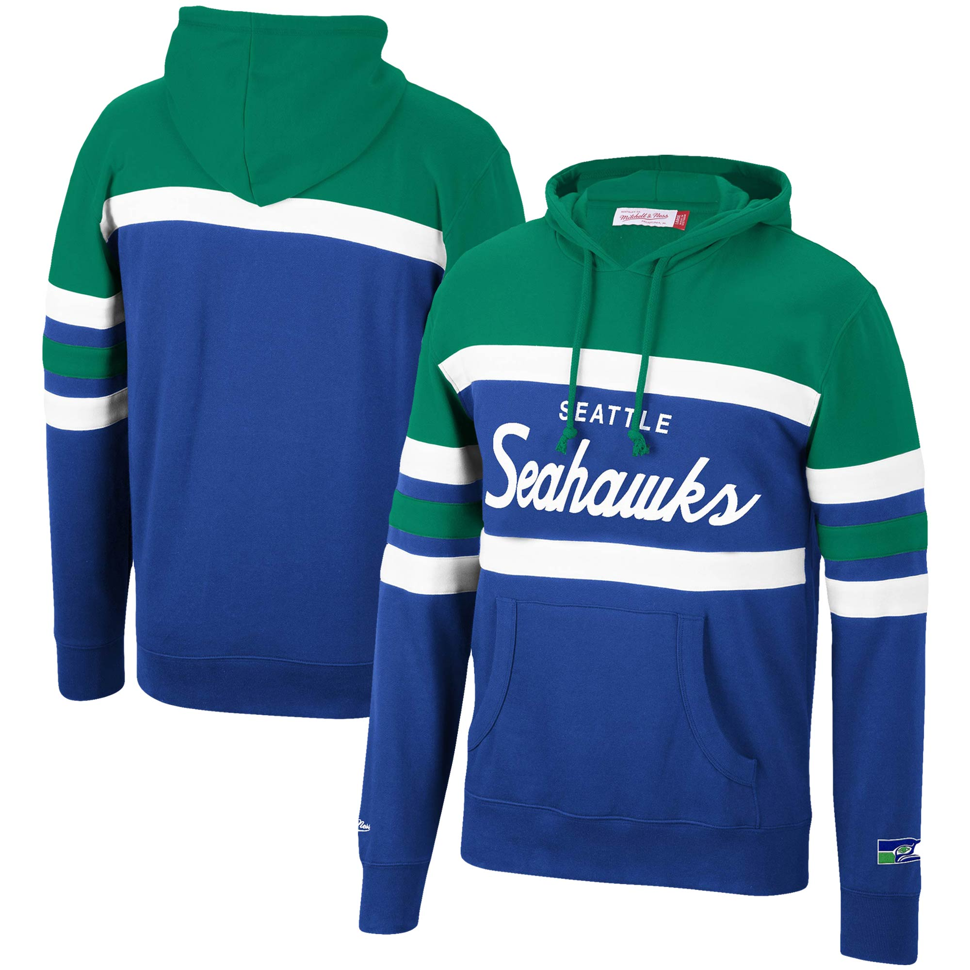 Seattle Seahawks Mitchell & Ness Head Coach Pullover Hoodie - Neon Green