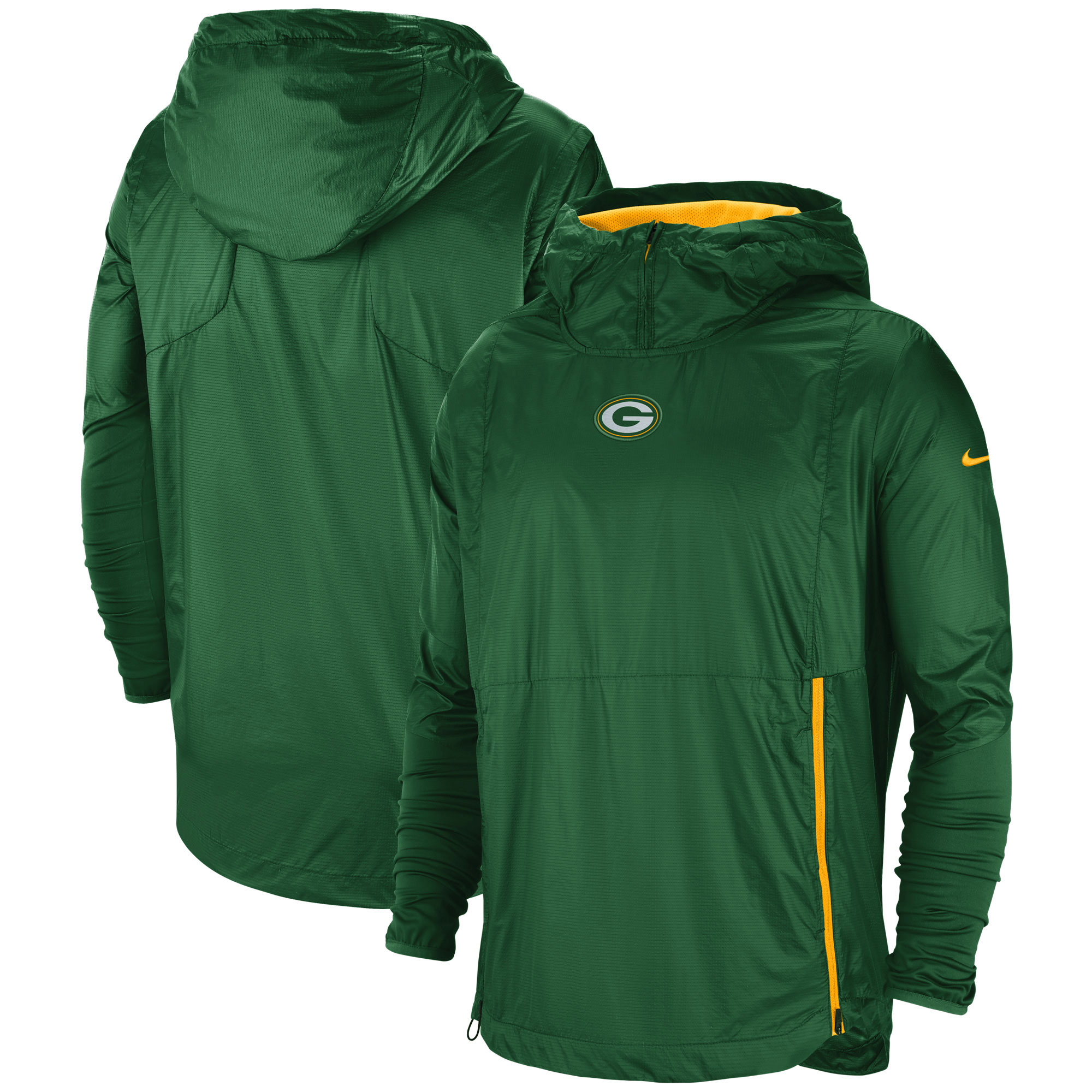 Green Bay Packers Nike Sideline Alpha Fly Rush Pullover Jacket - Green