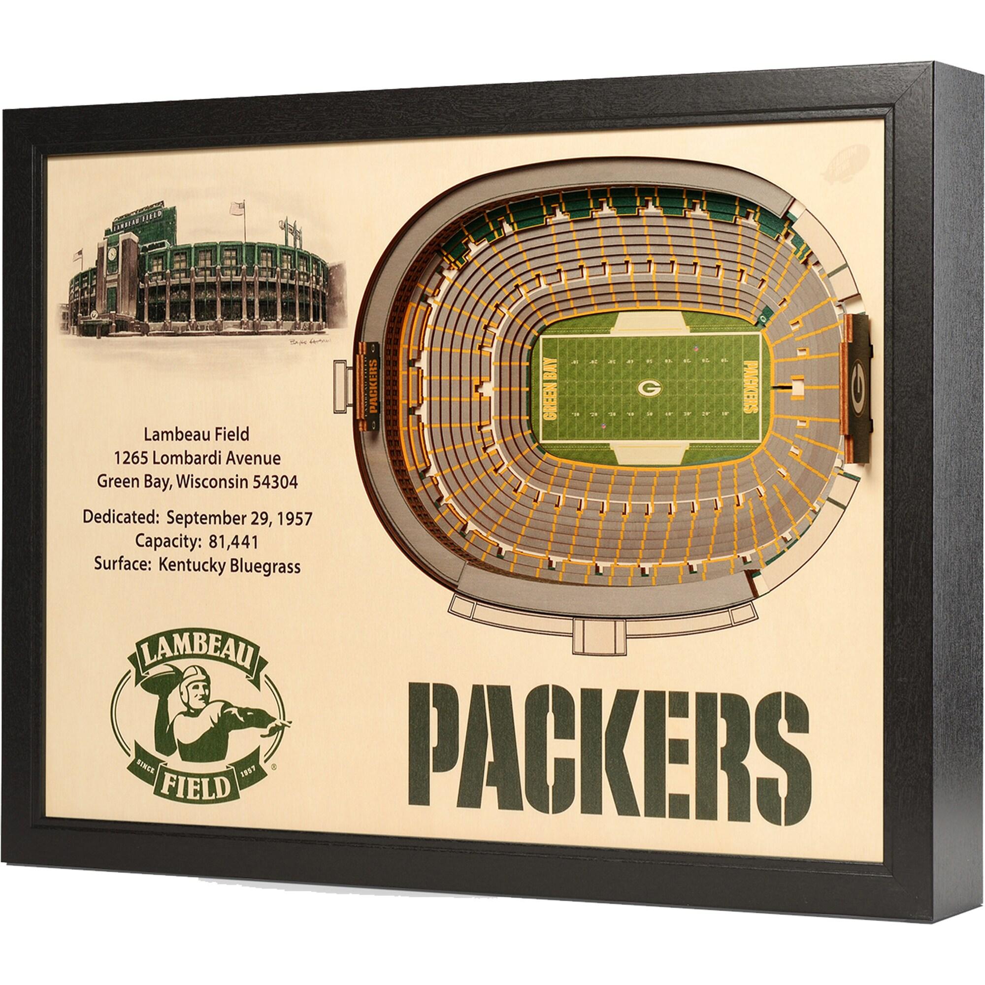 "Green Bay Packers Lambeau Field 25.5"" x 19.5"" Stadium Views Wall Art"