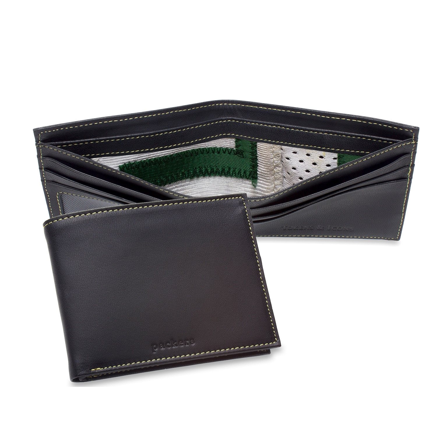 Green Bay Packers Tokens & Icons Game-Used Uniform Leather Wallet
