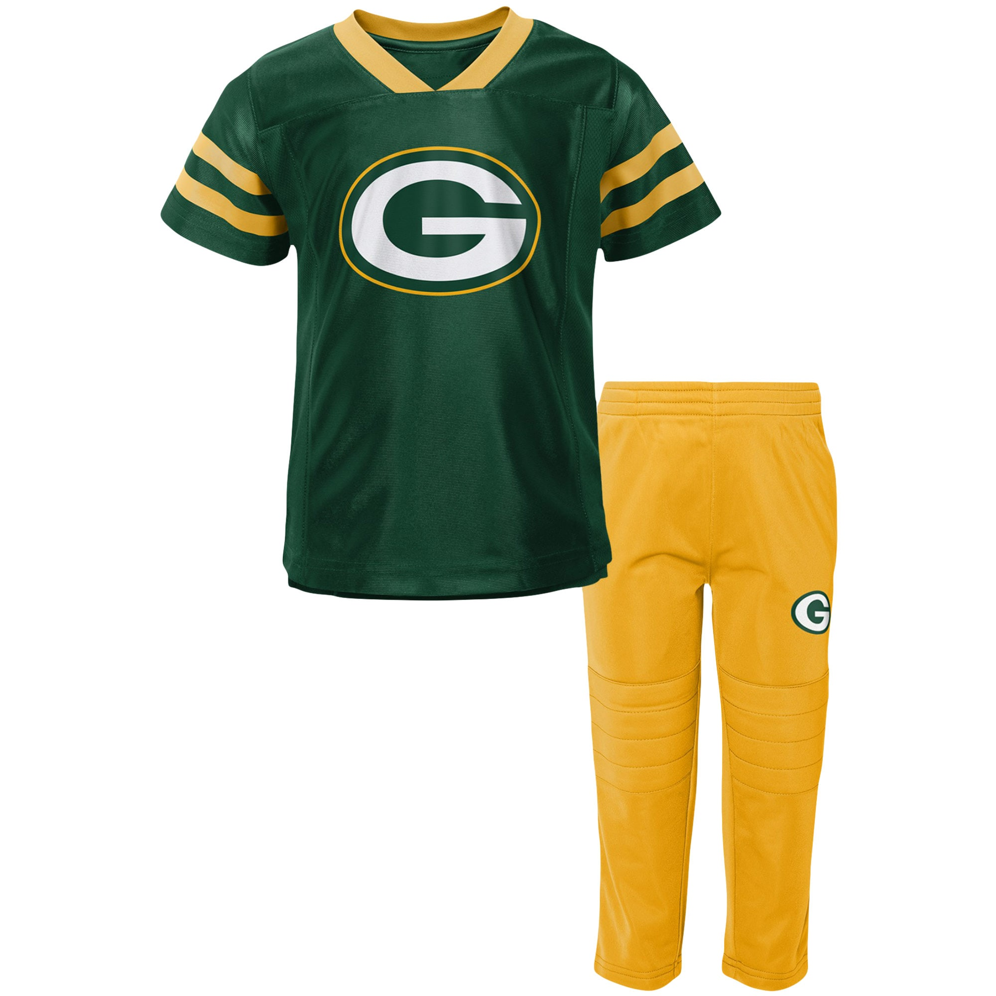 Green Bay Packers Toddler Training Camp V-Neck T-Shirt & Pants Set - Green/Gold