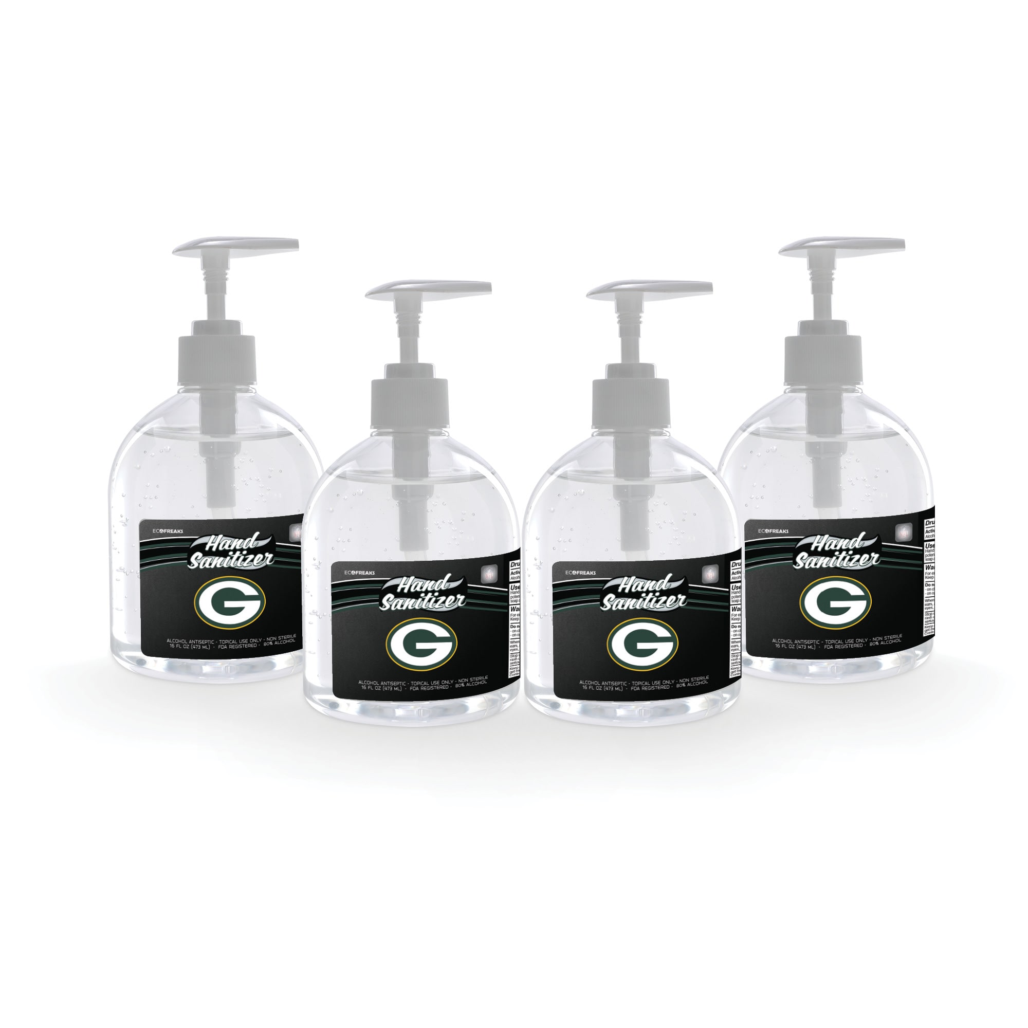 Green Bay Packers 16oz. Hand Sanitizer 4-Pack