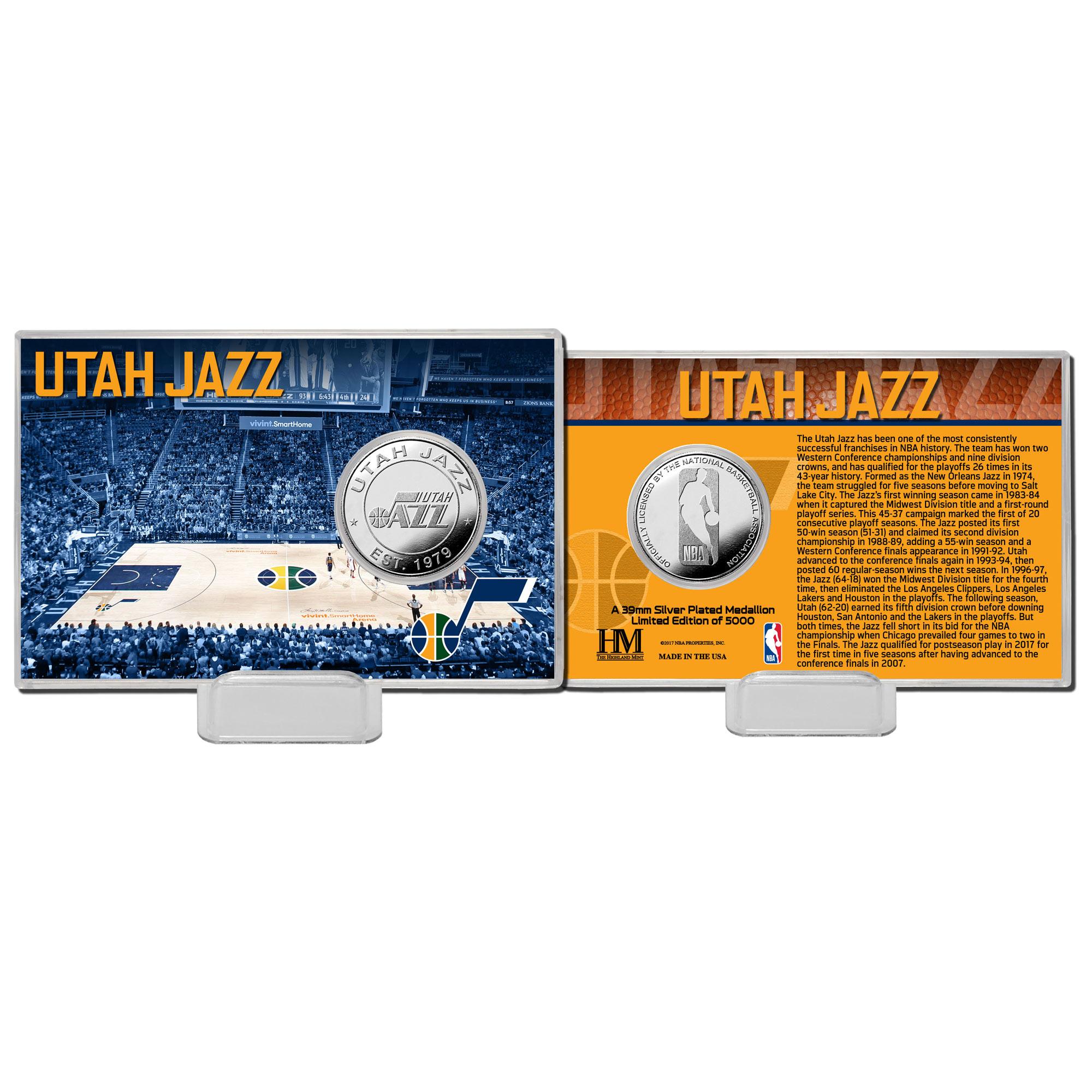 Utah Jazz Highland Mint History Coin Card
