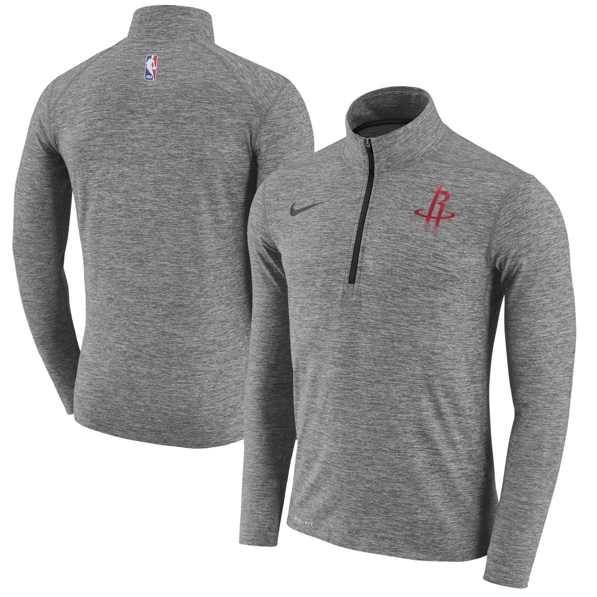 Houston Rockets Nike Element Performance Quarter-Zip Jacket - Gray