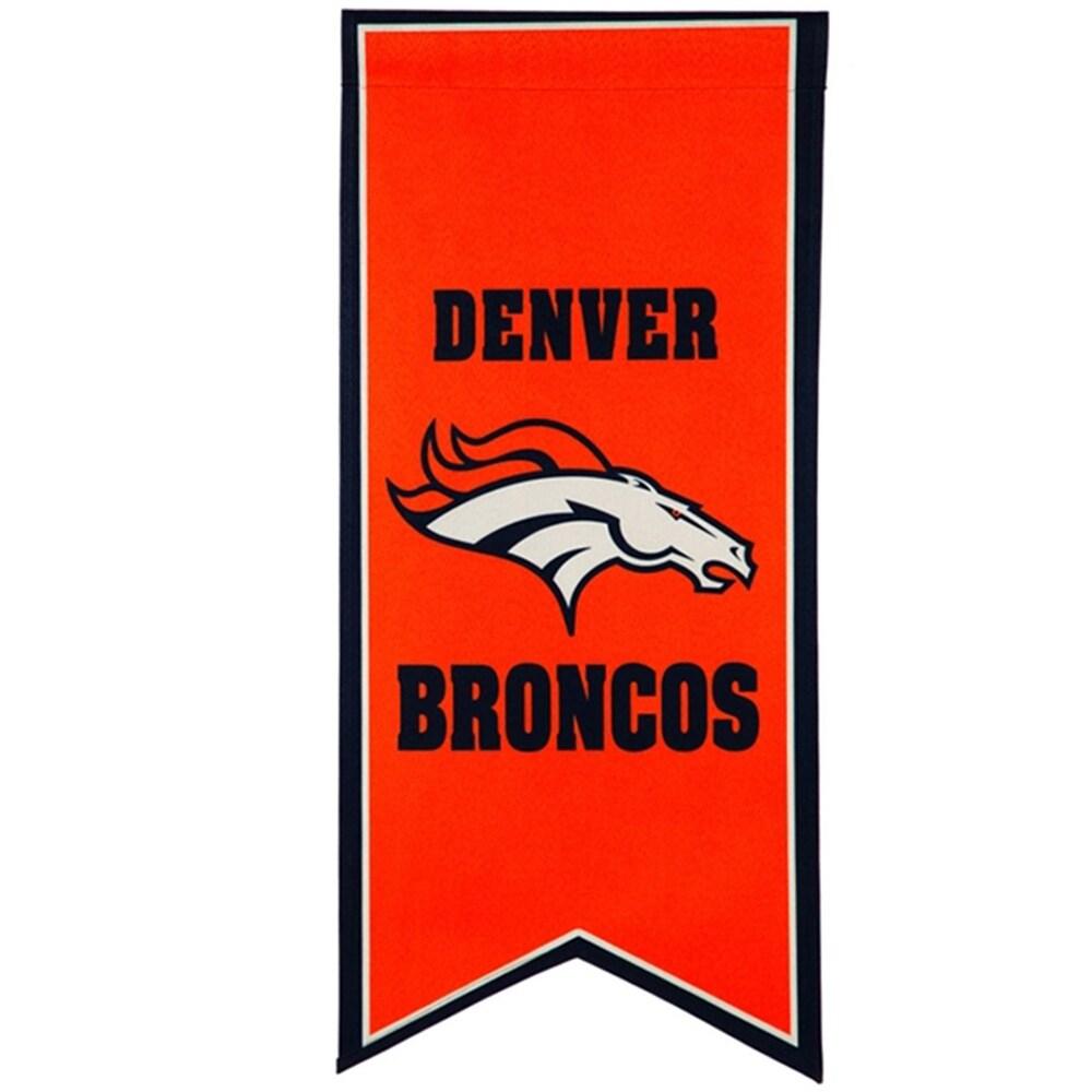 Denver Broncos 12.5'' x 28'' Flag Banner