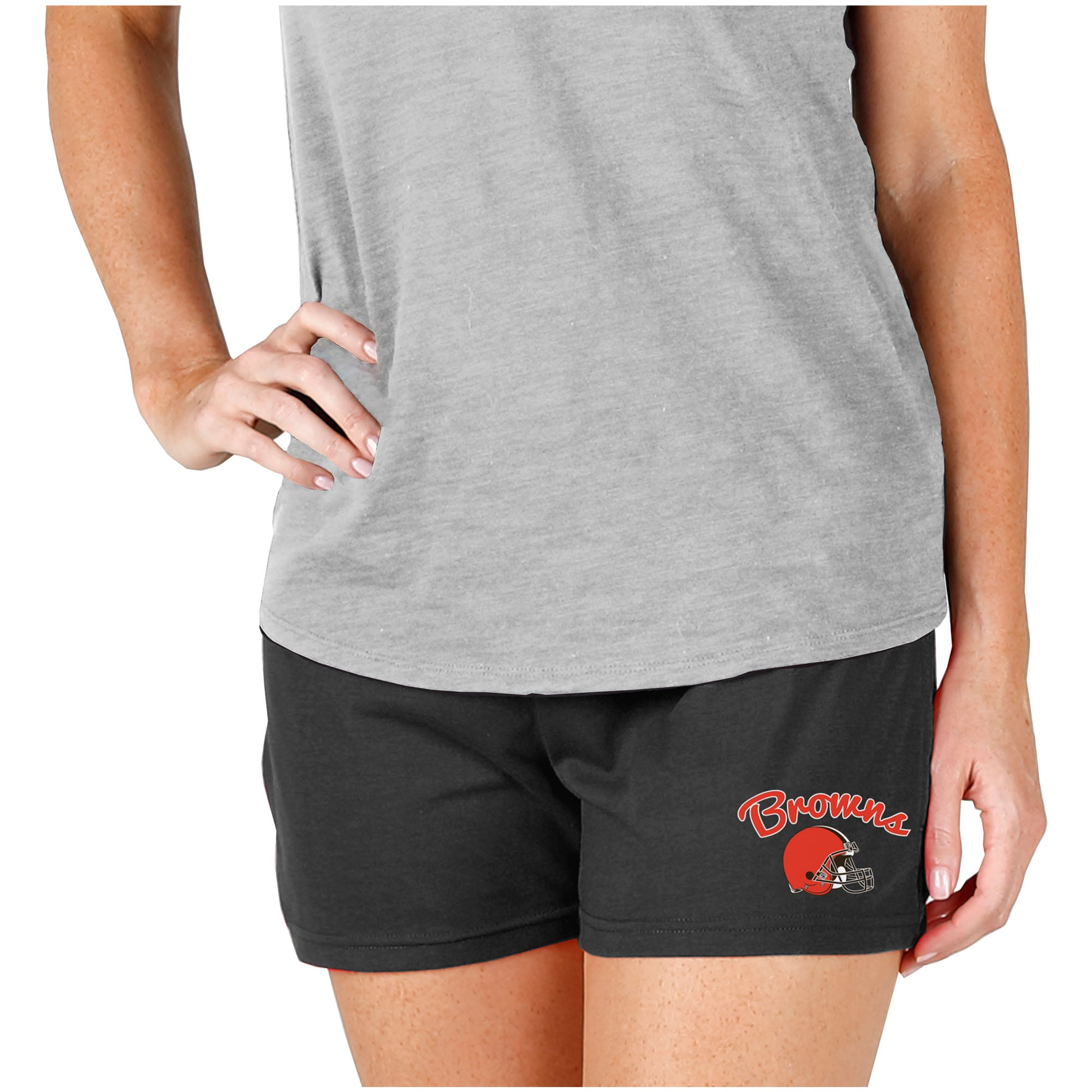 Cleveland Browns Concepts Sport Women's Knit Shorts - Charcoal