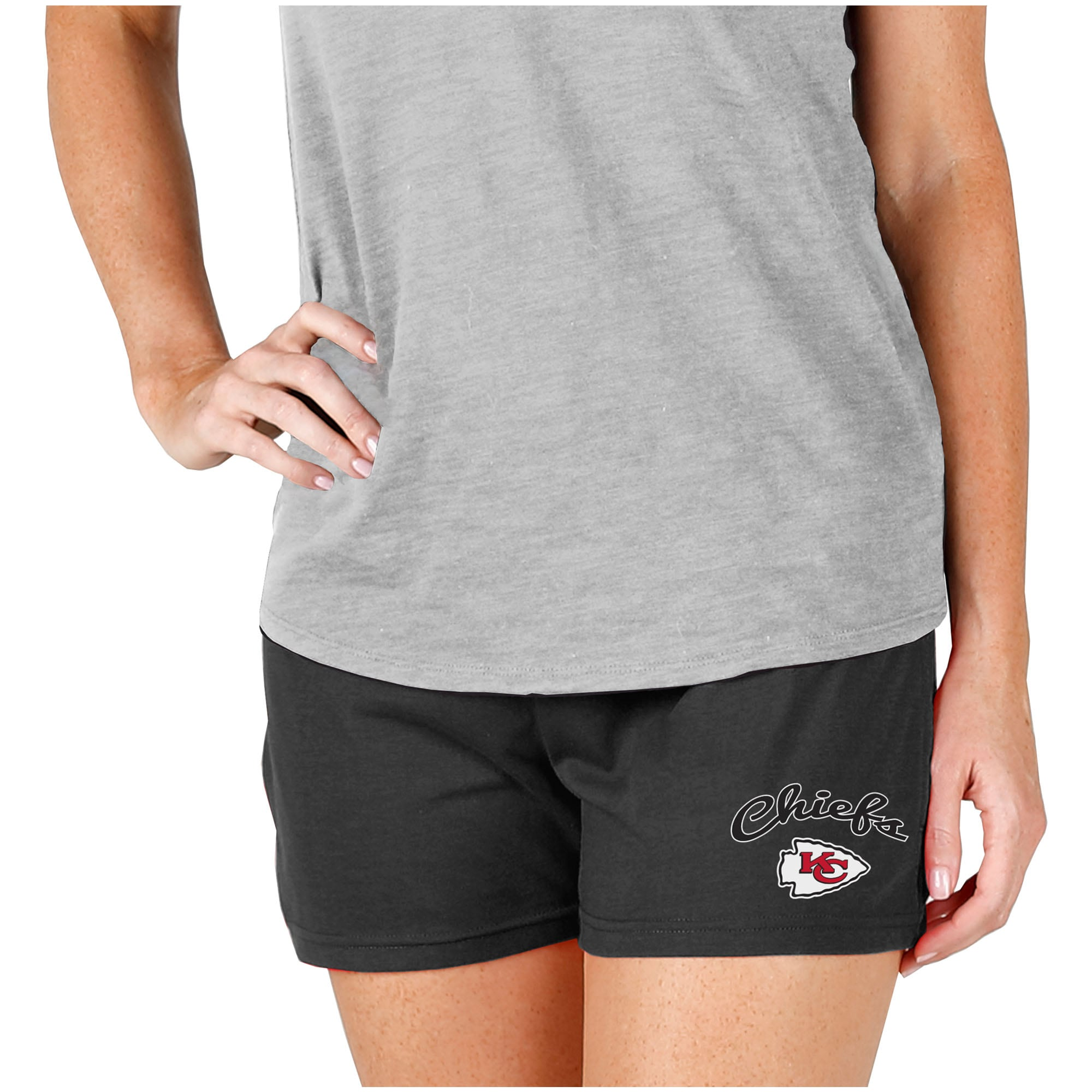 Kansas City Chiefs Concepts Sport Women's Knit Shorts - Charcoal