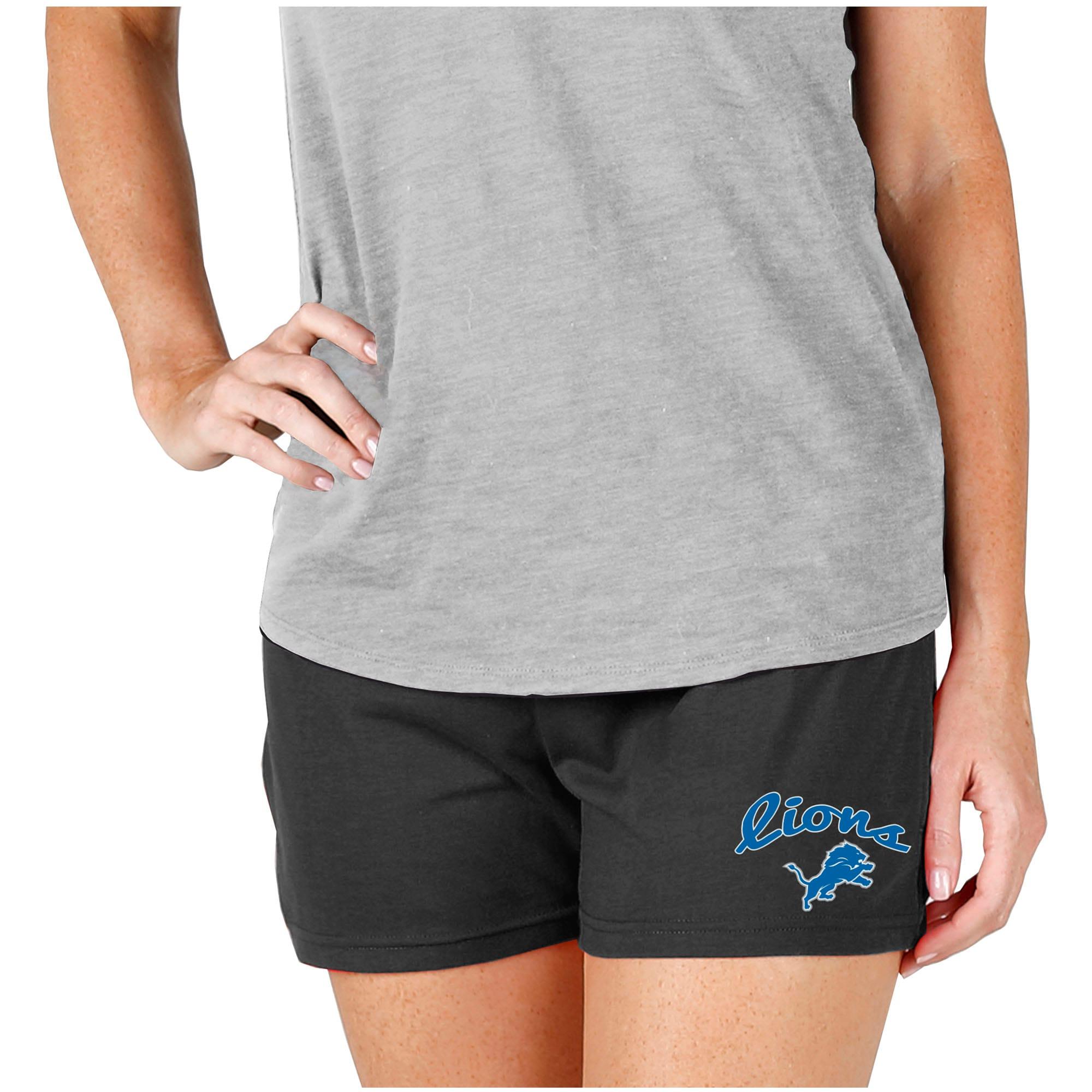 Detroit Lions Concepts Sport Women's Knit Shorts - Charcoal
