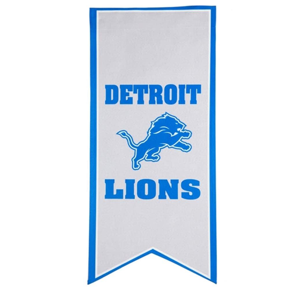 Detroit Lions 12.5'' x 28'' Flag Banner