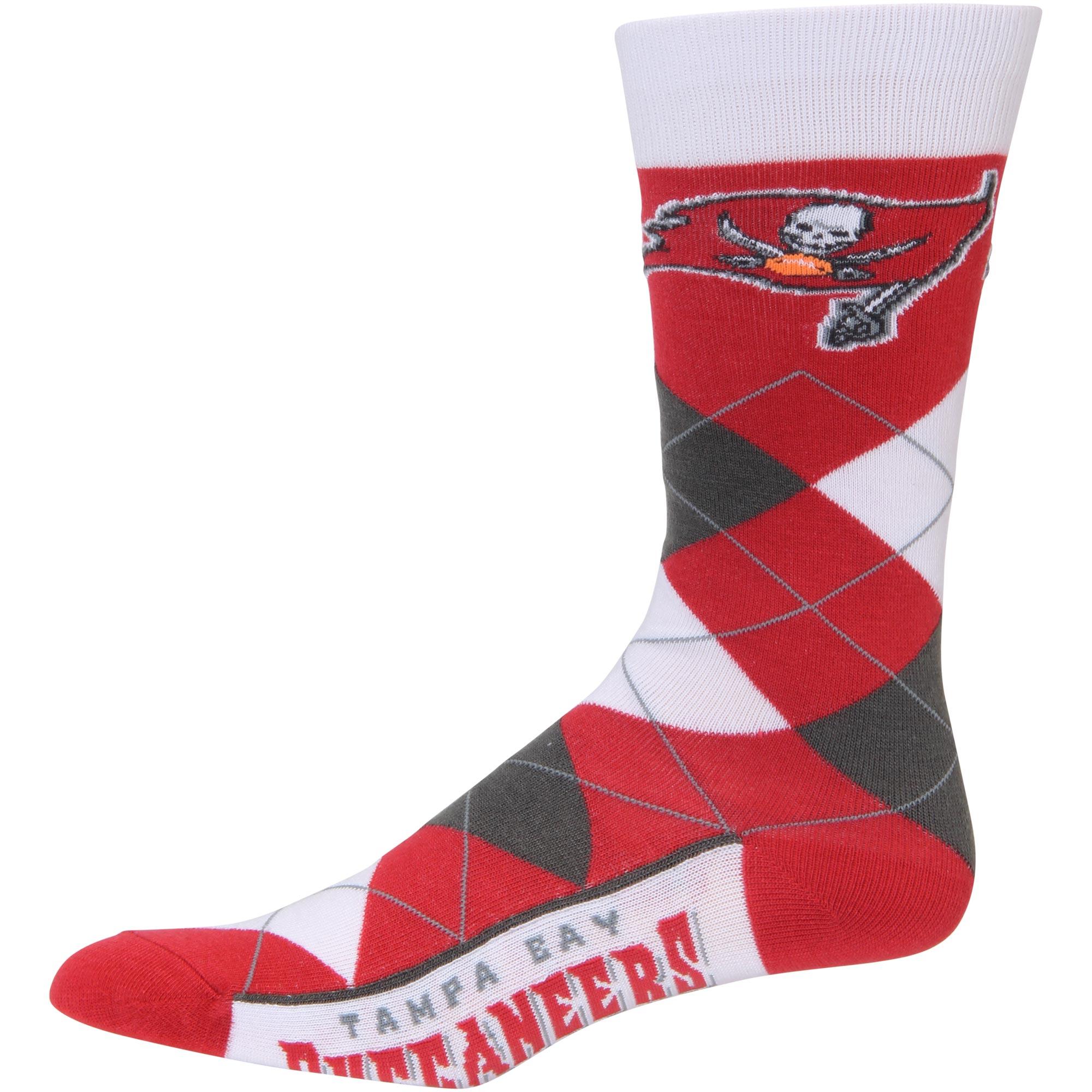 Tampa Bay Buccaneers For Bare Feet Argyle Crew Socks