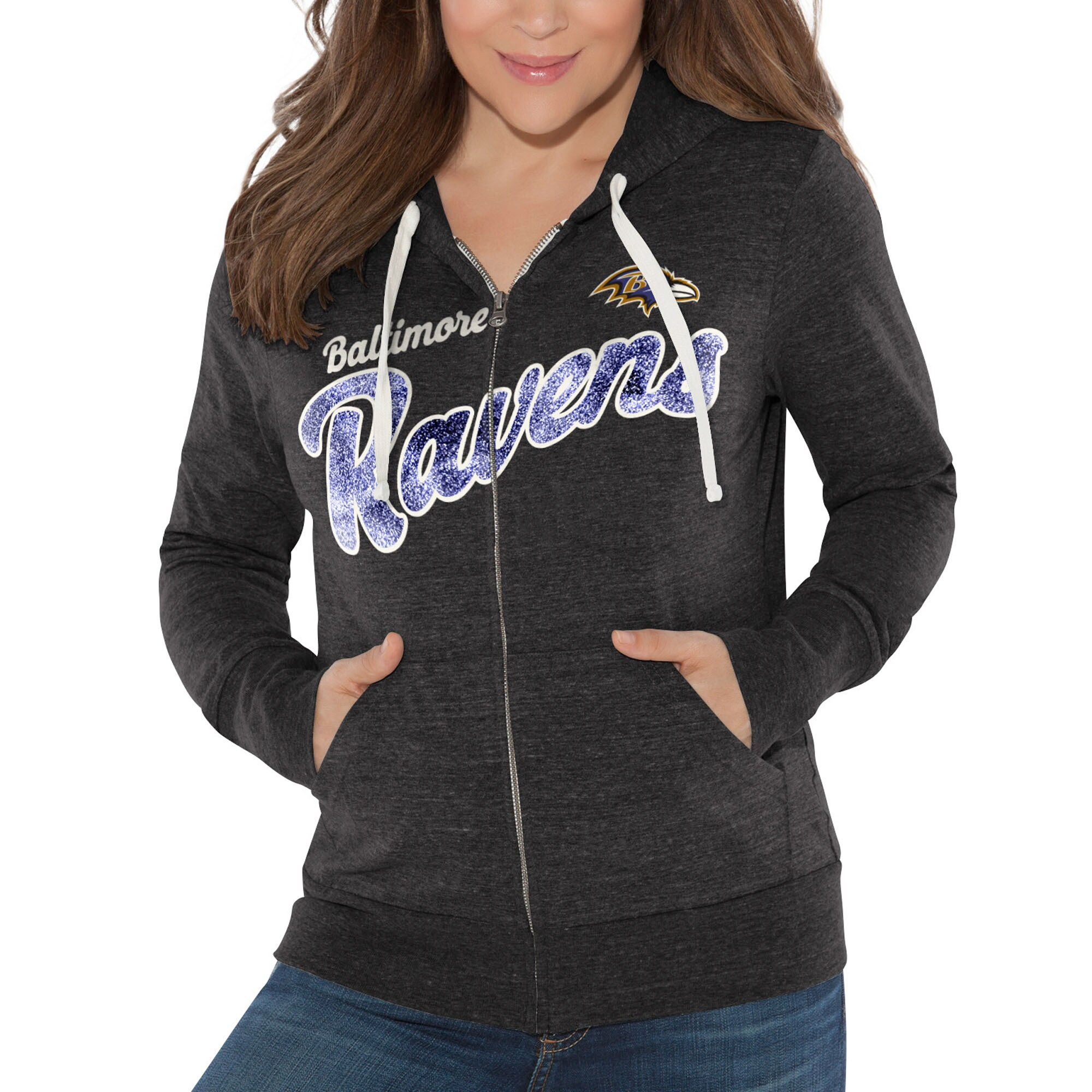Baltimore Ravens Touch by Alyssa Milano Women's All American Full-Zip Hoodie - Black
