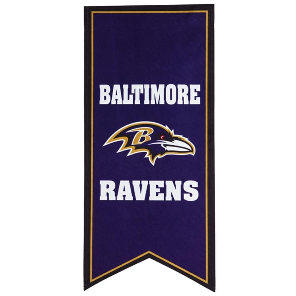 Baltimore Ravens 12.5'' x 28'' Flag Banner