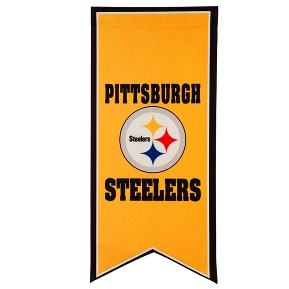 Pittsburgh Steelers 12.5'' x 28'' Flag Banner
