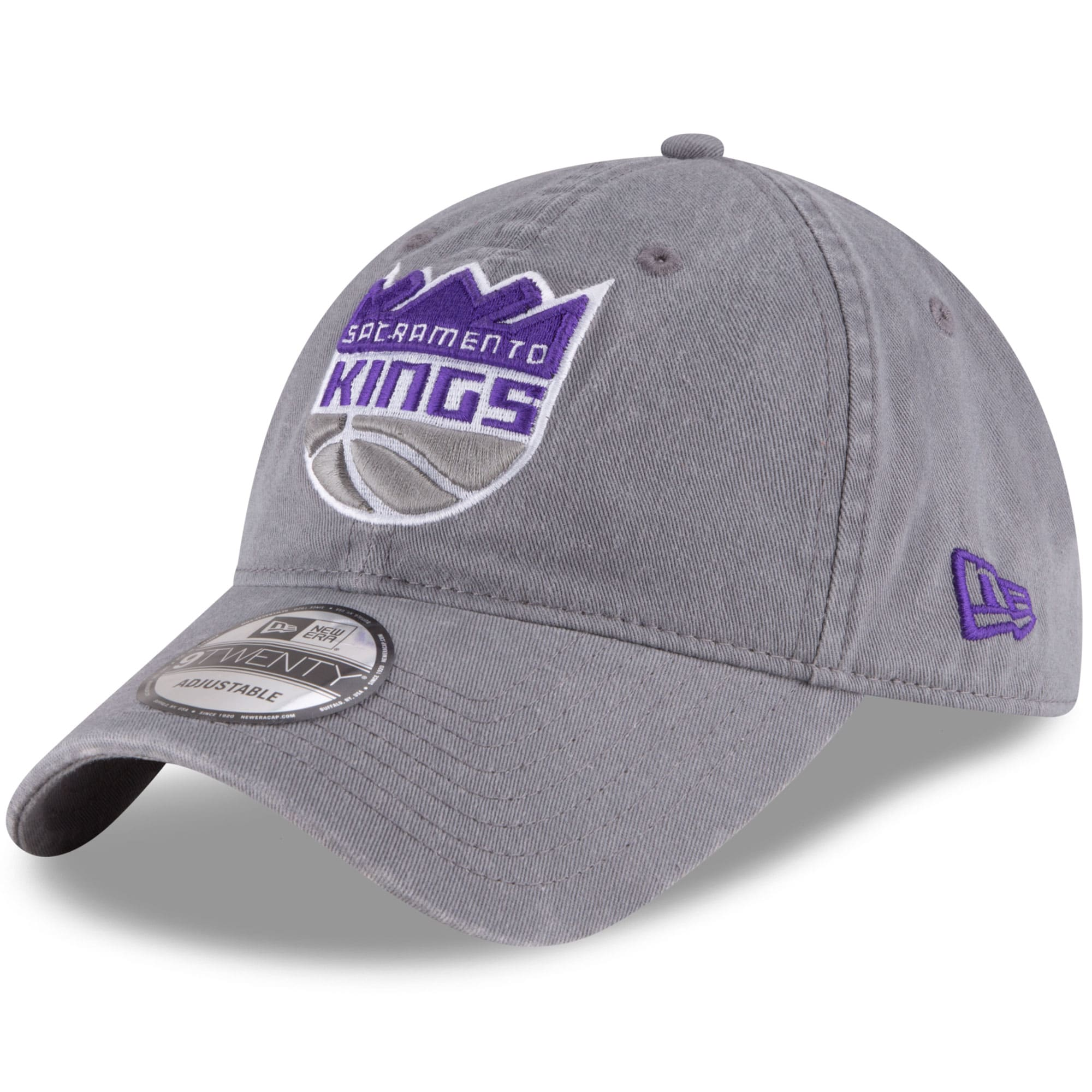 Sacramento Kings New Era Official Team Color 9TWENTY Adjustable Hat - Gray