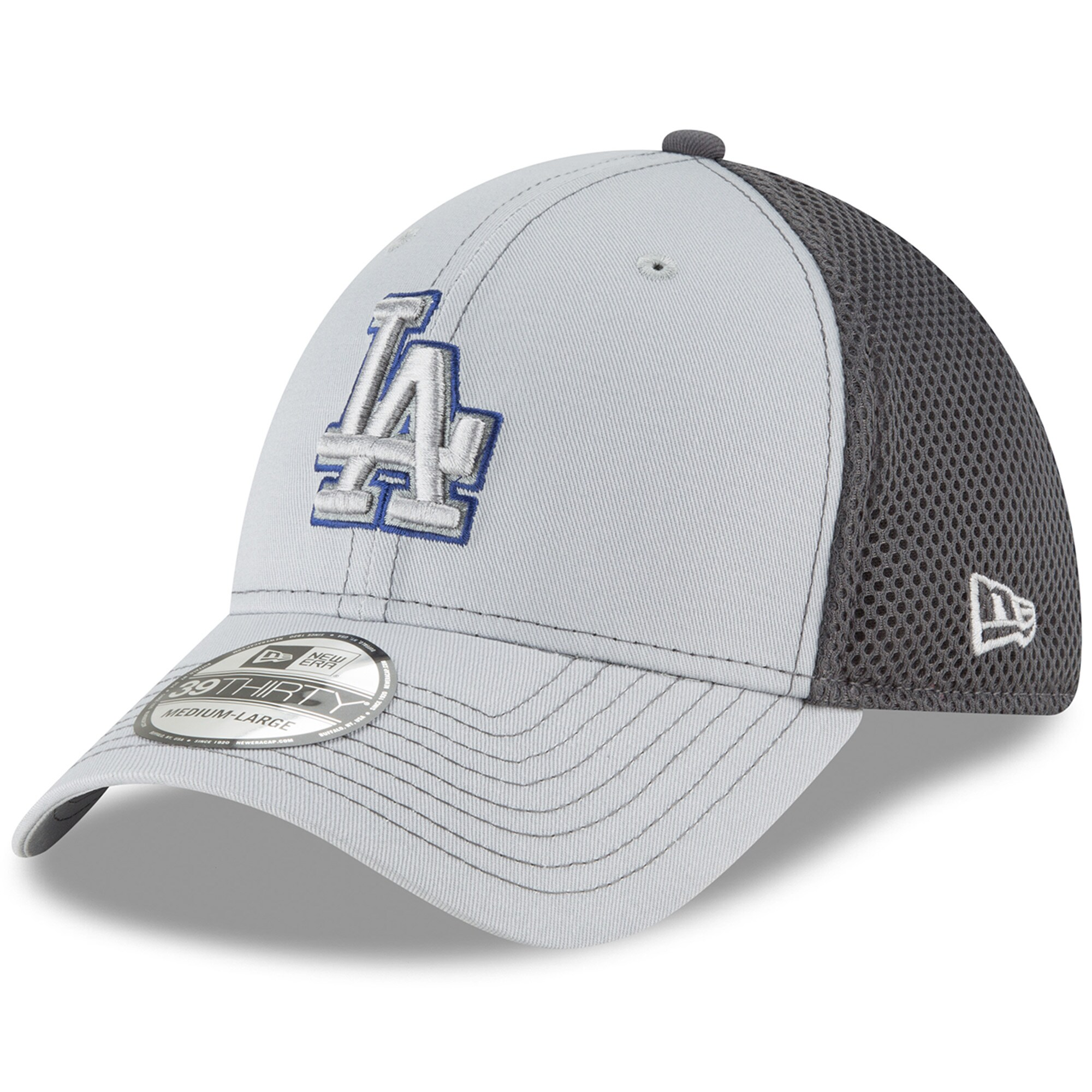 Los Angeles Dodgers New Era Grayed Out Neo 39THIRTY Flex Hat - Gray