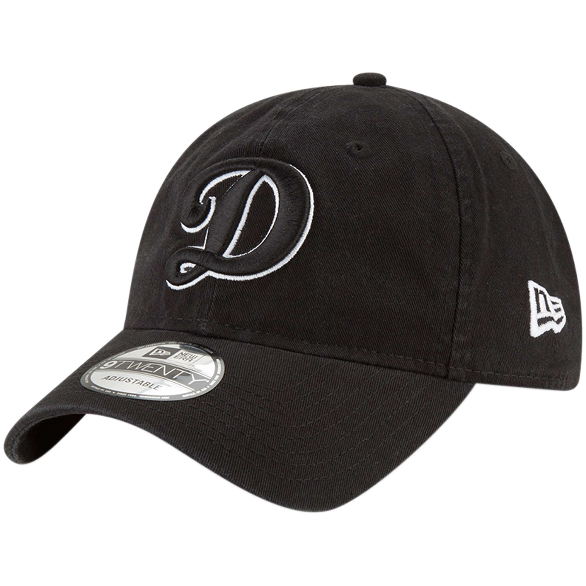 Los Angeles Dodgers New Era Core Classic Twill 9TWENTY Adjustable Hat - Black