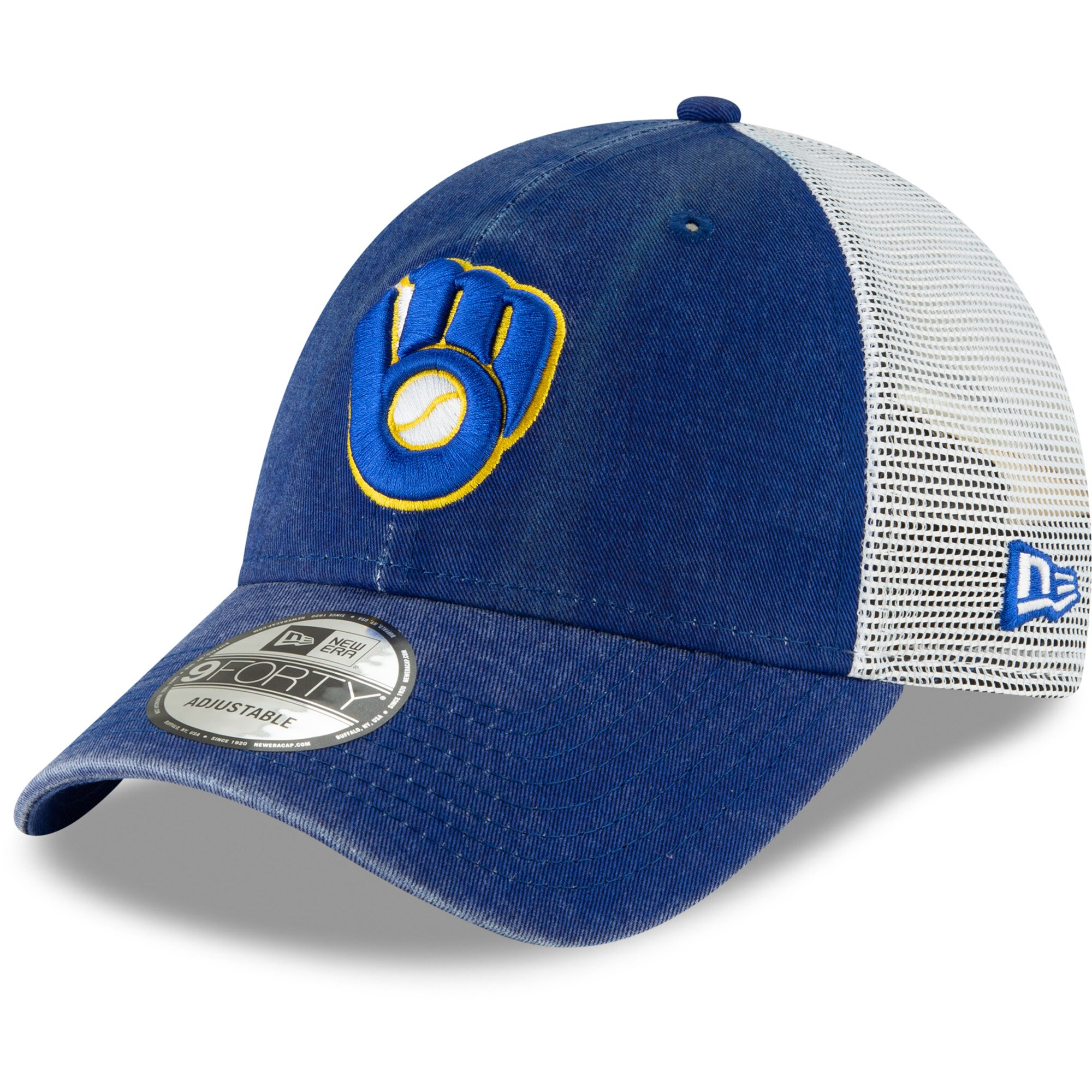 Milwaukee Brewers New Era Cooperstown Collection 1987 Trucker 9FORTY Adjustable Hat - Royal