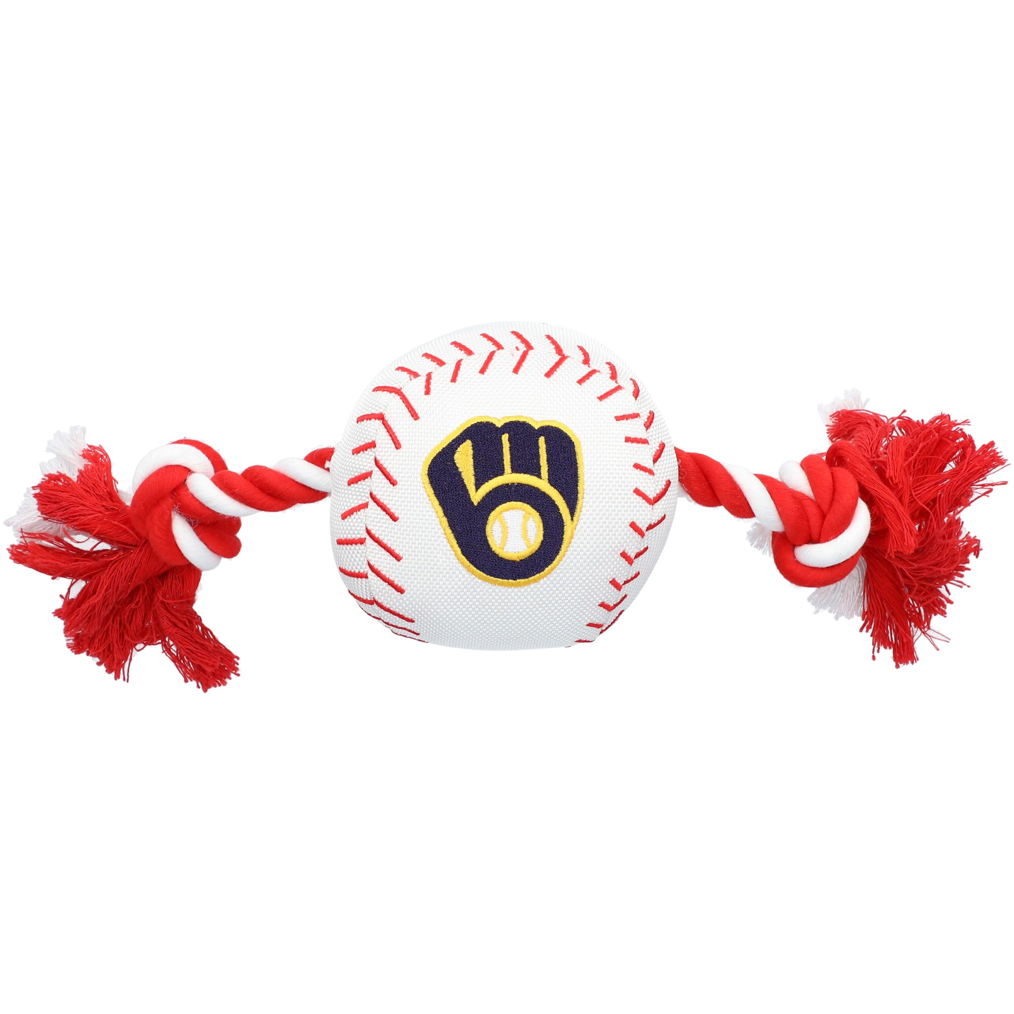 Milwaukee Brewers Dog Baseball Rope Toy