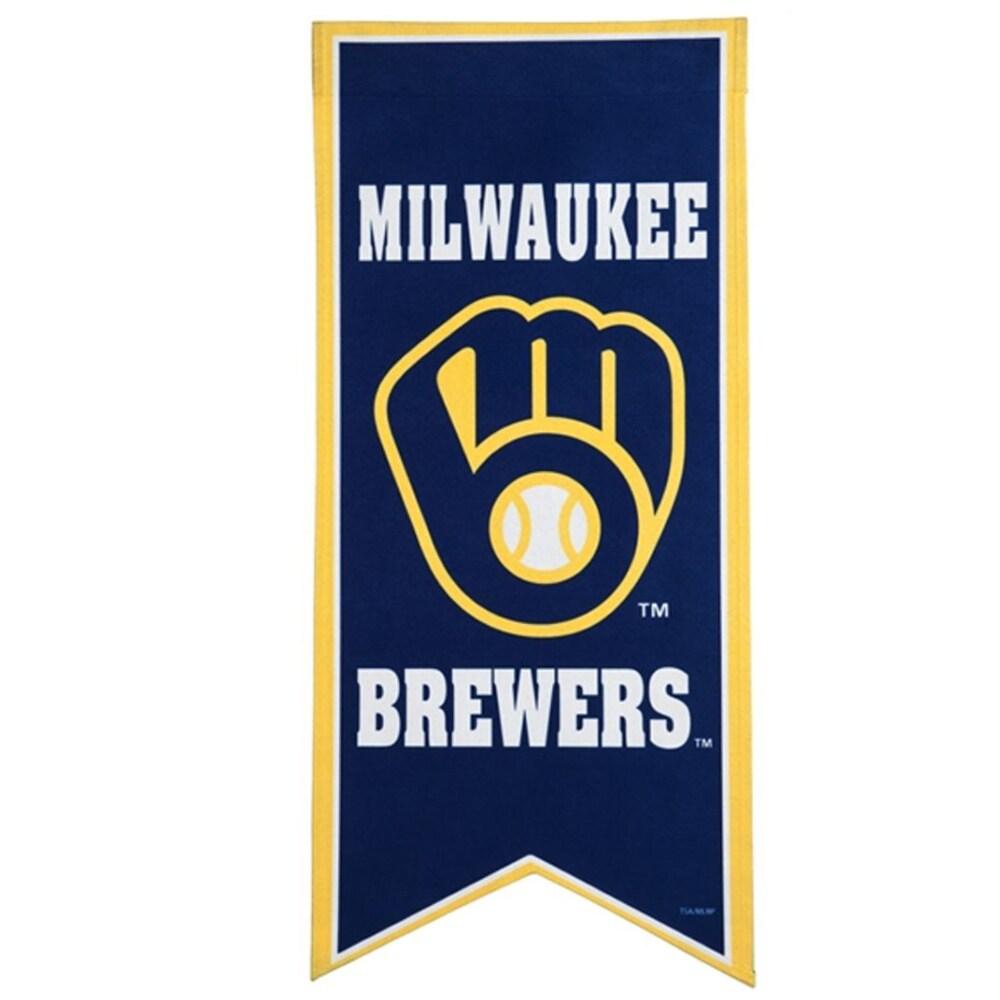 Milwaukee Brewers 12.5'' x 28'' Flag Banner