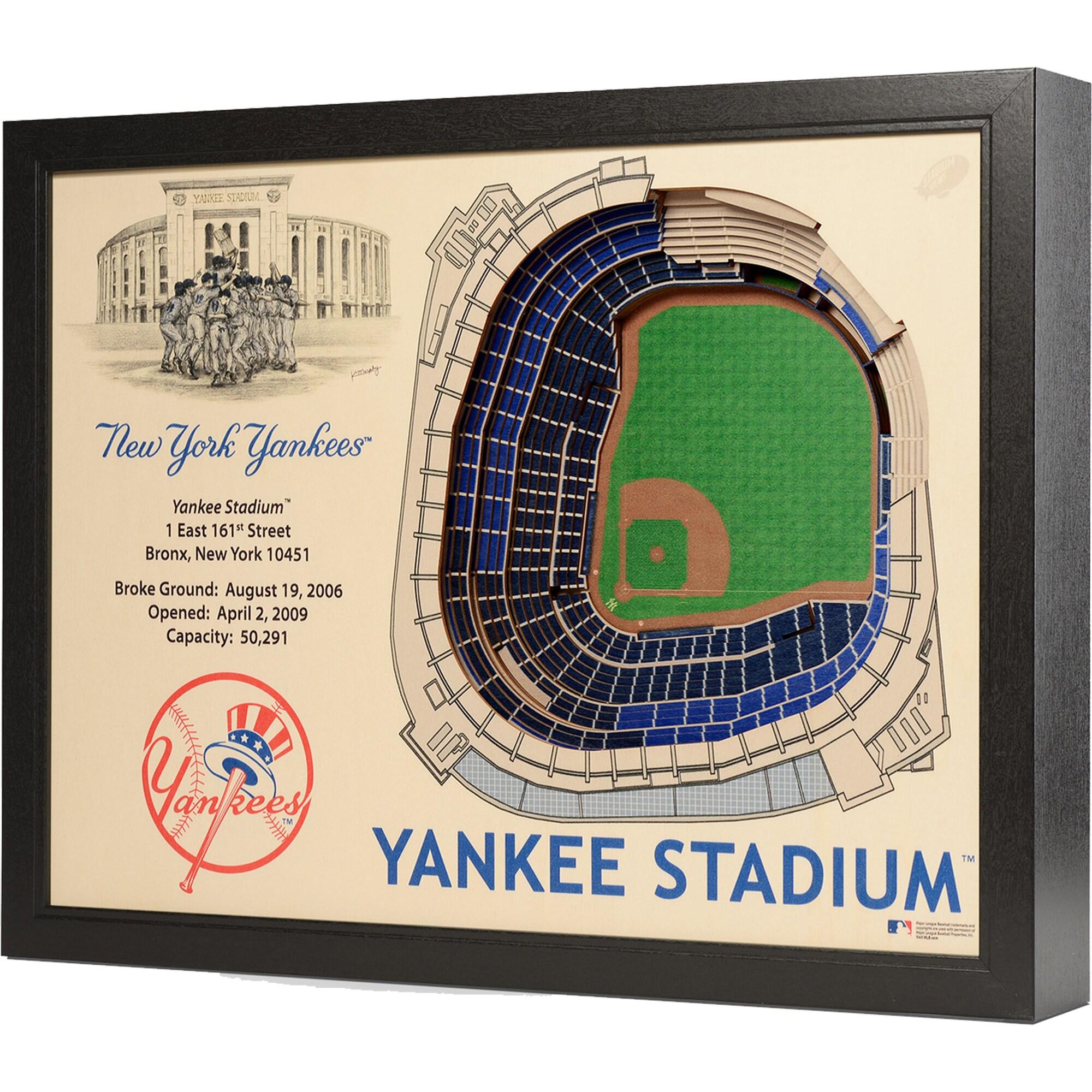 """New York Yankees 25.5"""" x 19.5"""" Yankee Stadium Stadium Views Wall Art"""