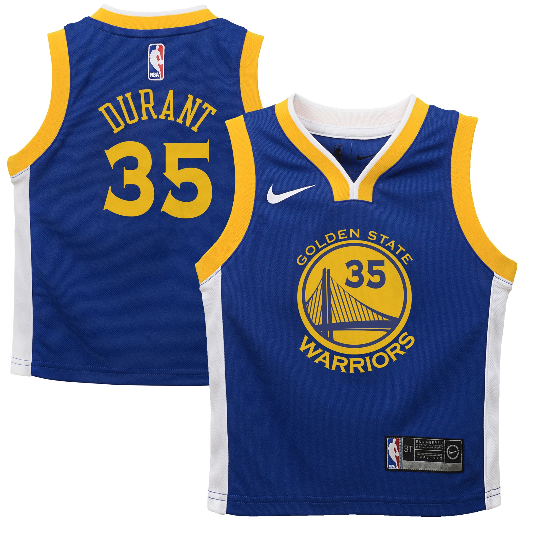 Kevin Durant Golden State Warriors Nike Toddler Replica Jersey Royal - Icon Edition