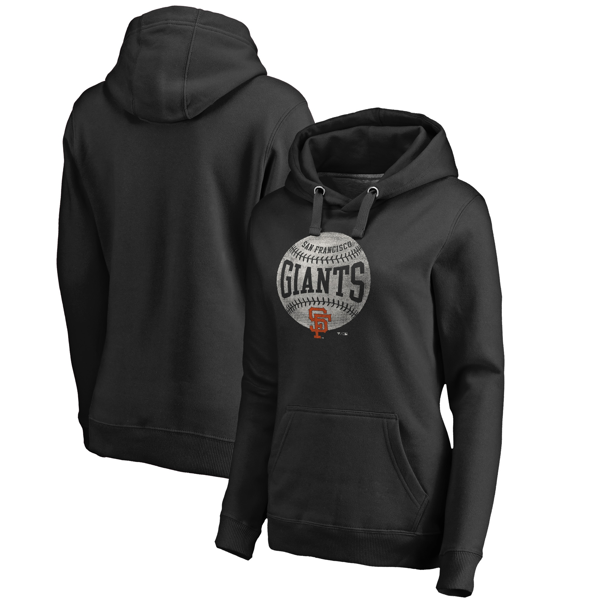 San Francisco Giants Fanatics Branded Women's Cooperstown Collection Slider Pullover Hoodie - Black