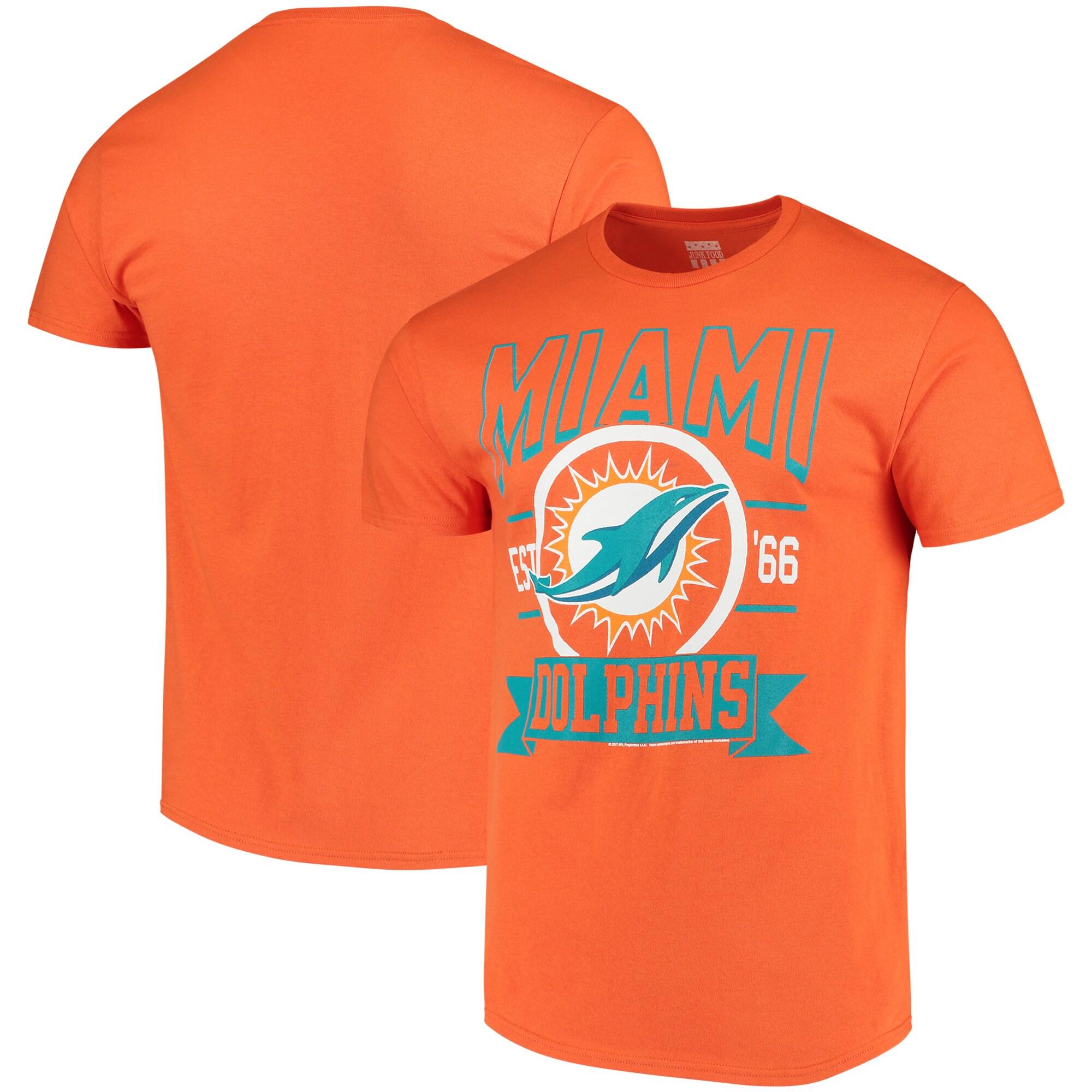 Miami Dolphins Banner T-Shirt - Orange