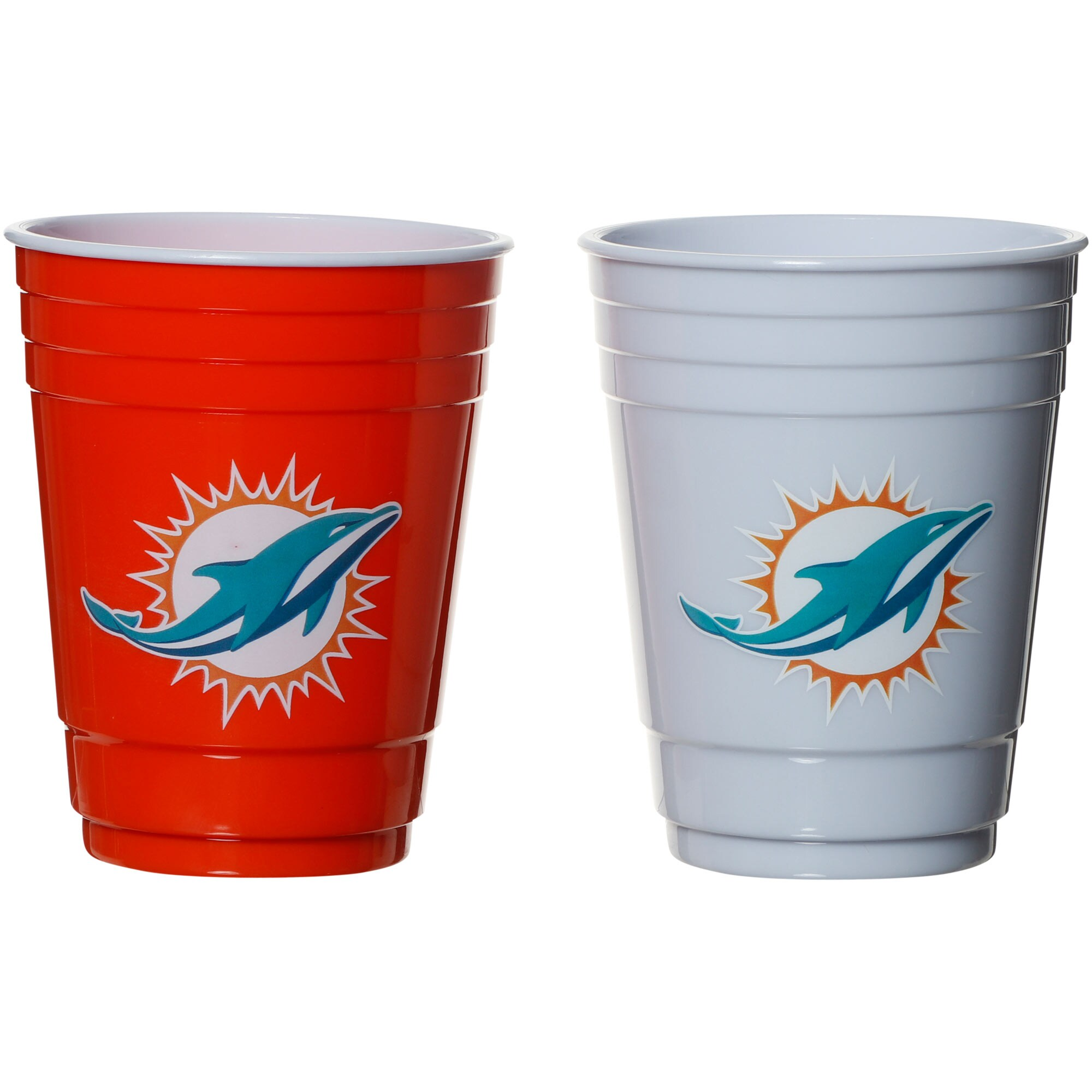 Miami Dolphins Two-Pack Home And Away Plastic Cup