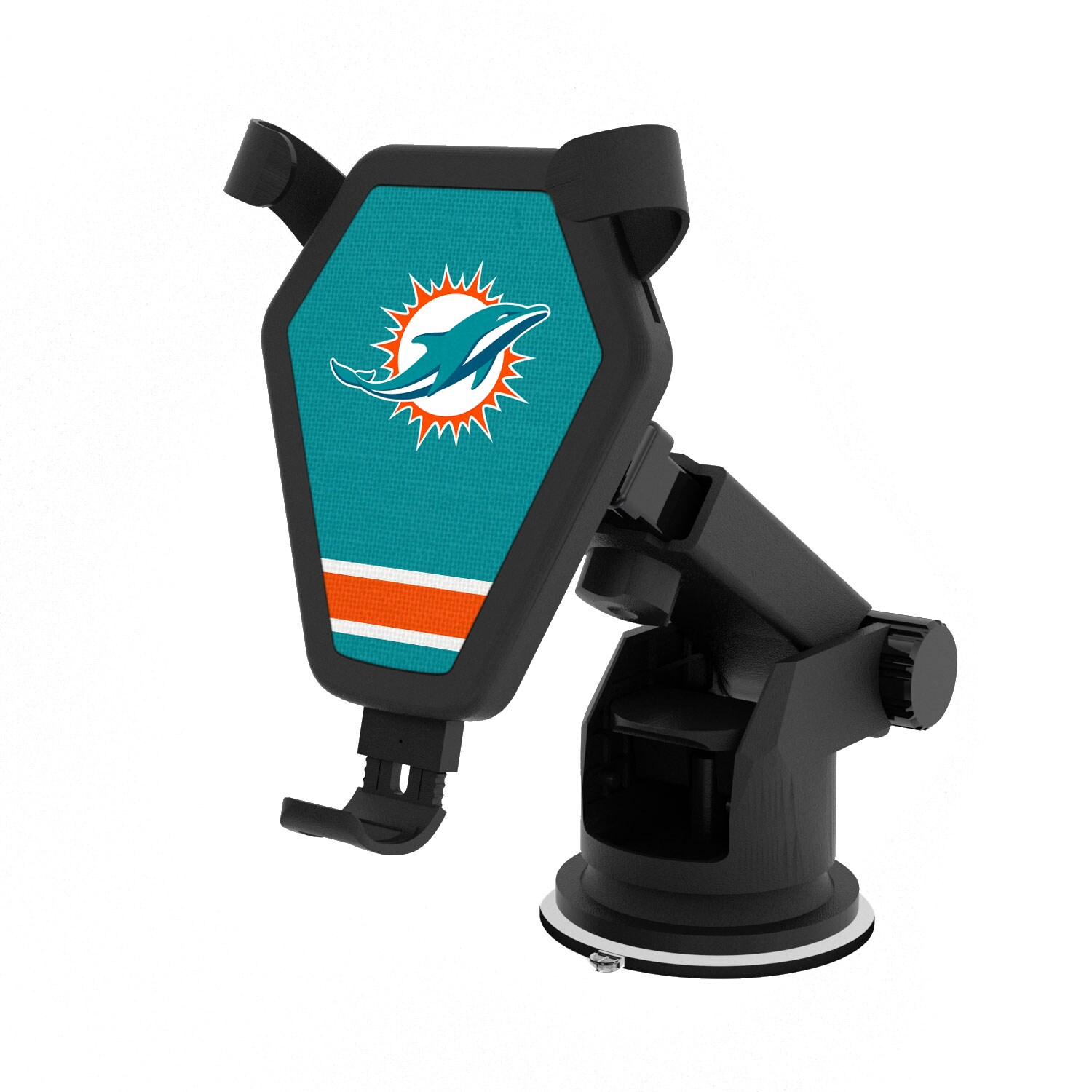 Miami Dolphins Stripe Design Wireless Car Charger