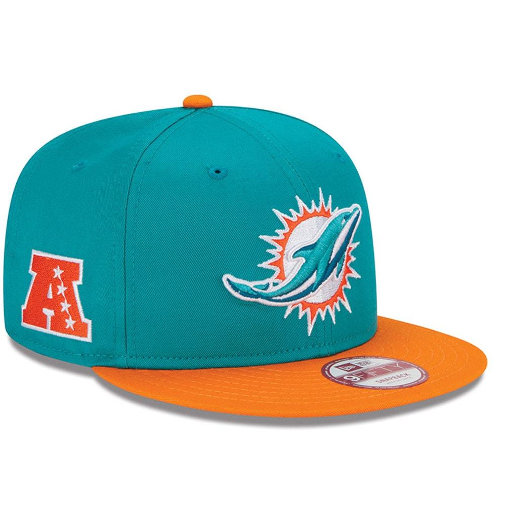 Miami Dolphins New Era Youth Baycik 9FIFTY Snapback Adjustable Hat - Aqua/Orange