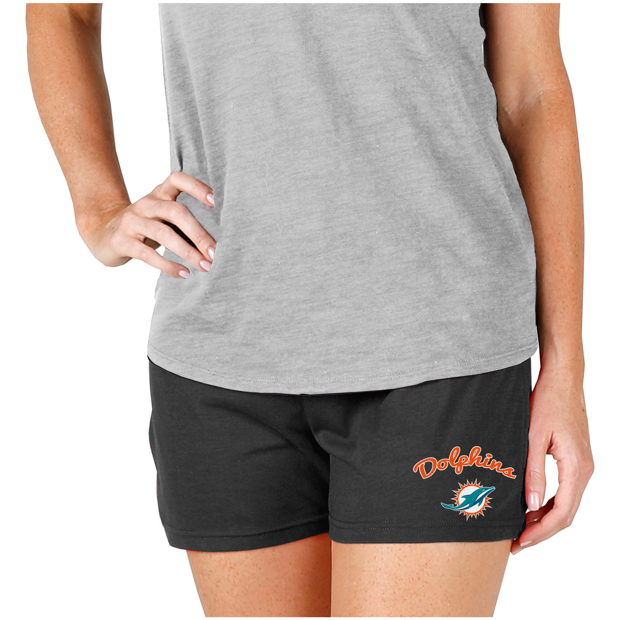 Miami Dolphins Concepts Sport Women's Knit Shorts - Charcoal
