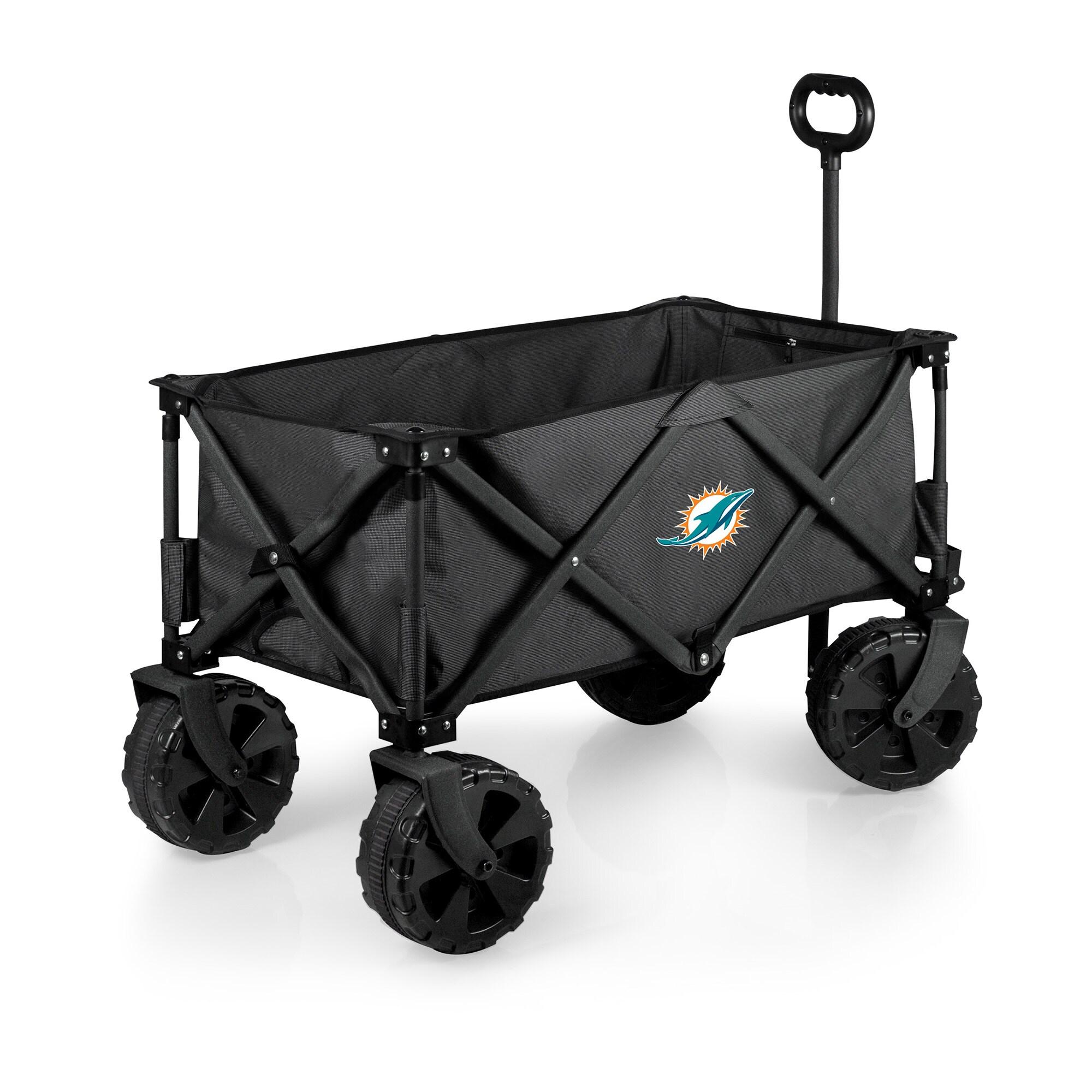 Miami Dolphins Adventure Wagon Elite All-Terrain Folding Utility Wagon - Charcoal