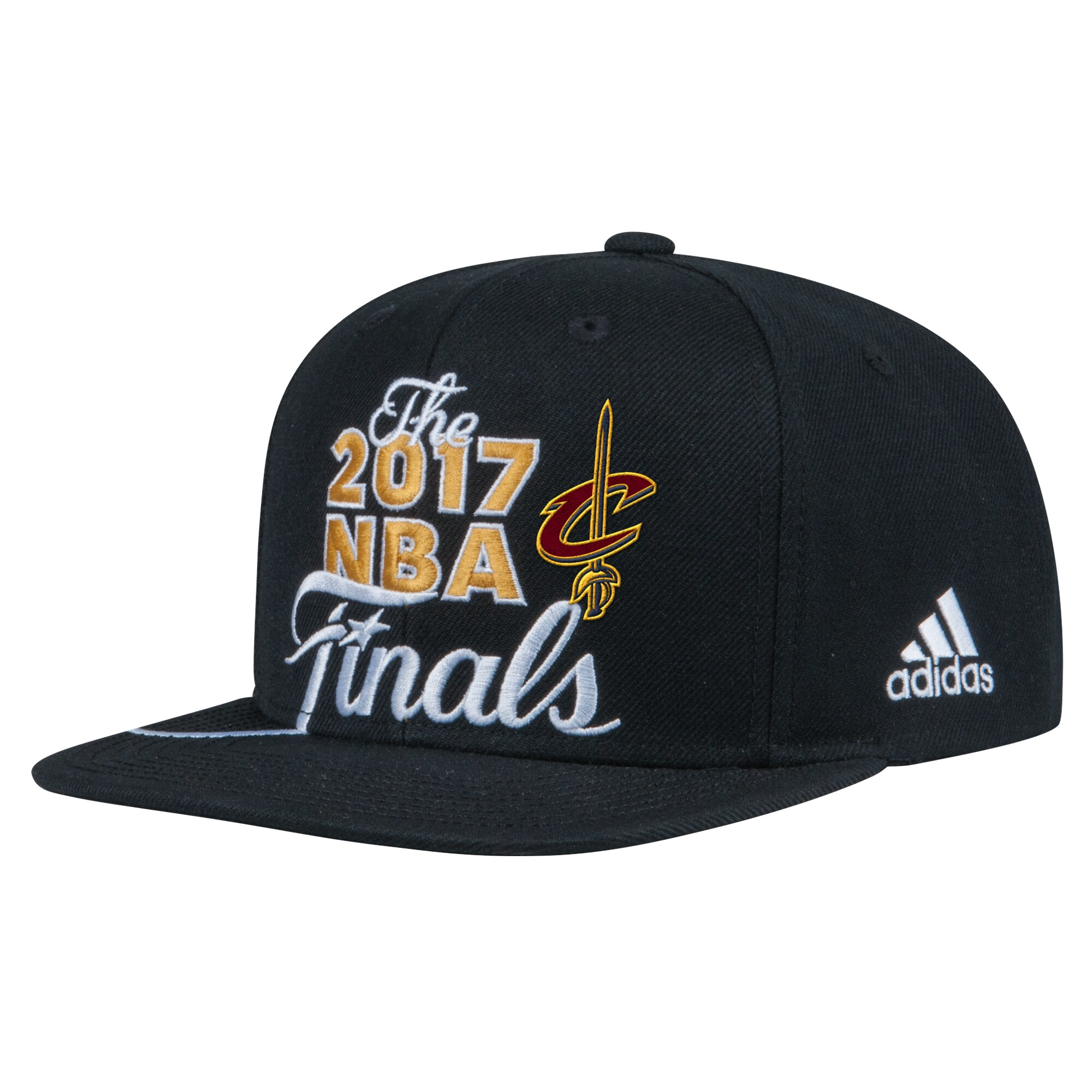 Cleveland Cavaliers adidas Youth 2017 Eastern Conference Champions Locker Room Snapback Adjustable Hat - Black