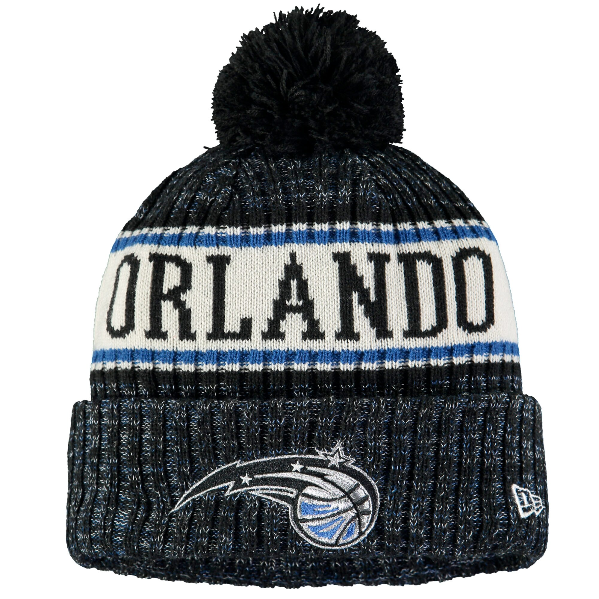 Orlando Magic New Era Sport Cuffed Knit Hat with Pom - Black