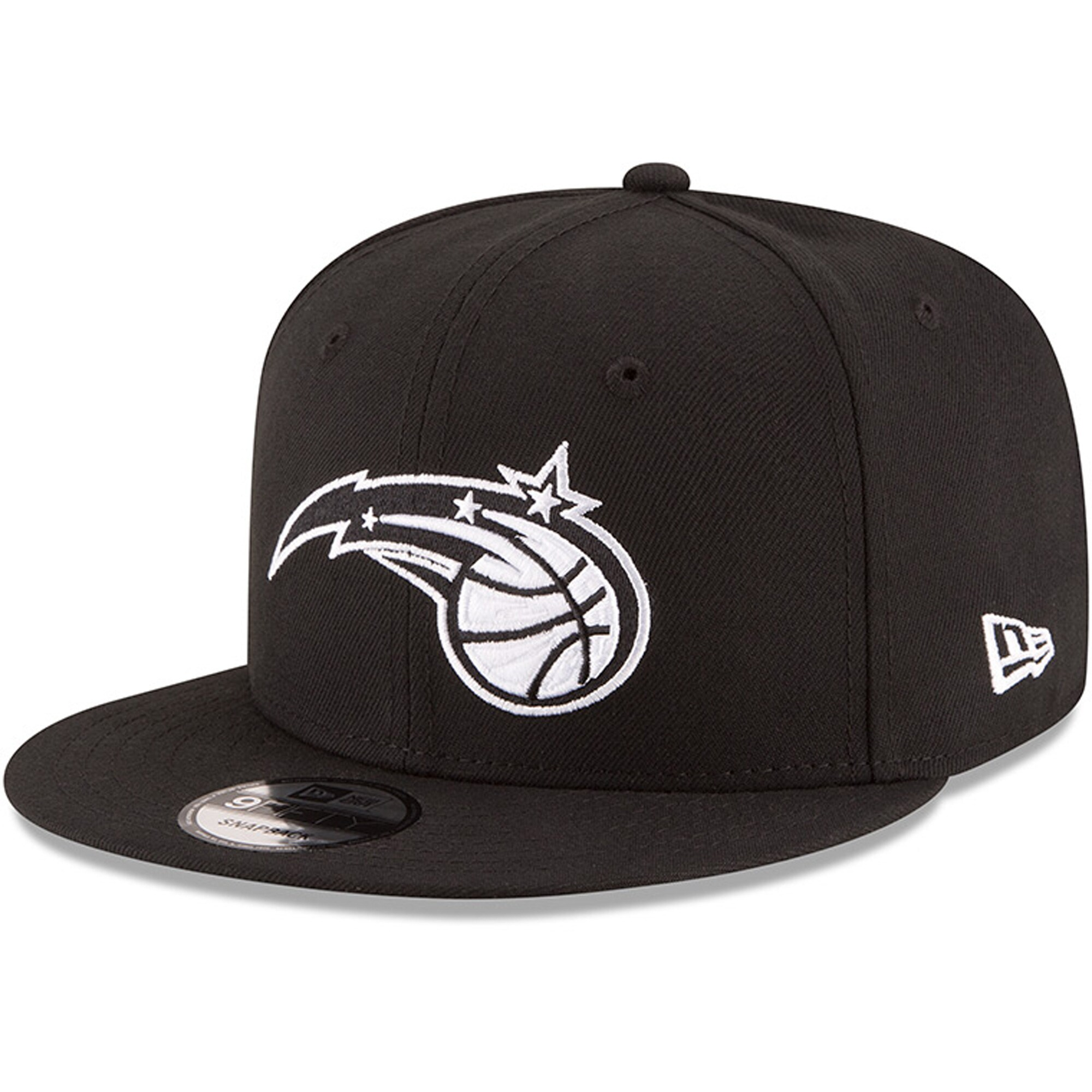 Orlando Magic New Era Black & White Logo 9FIFTY Adjustable Snapback Hat - Black