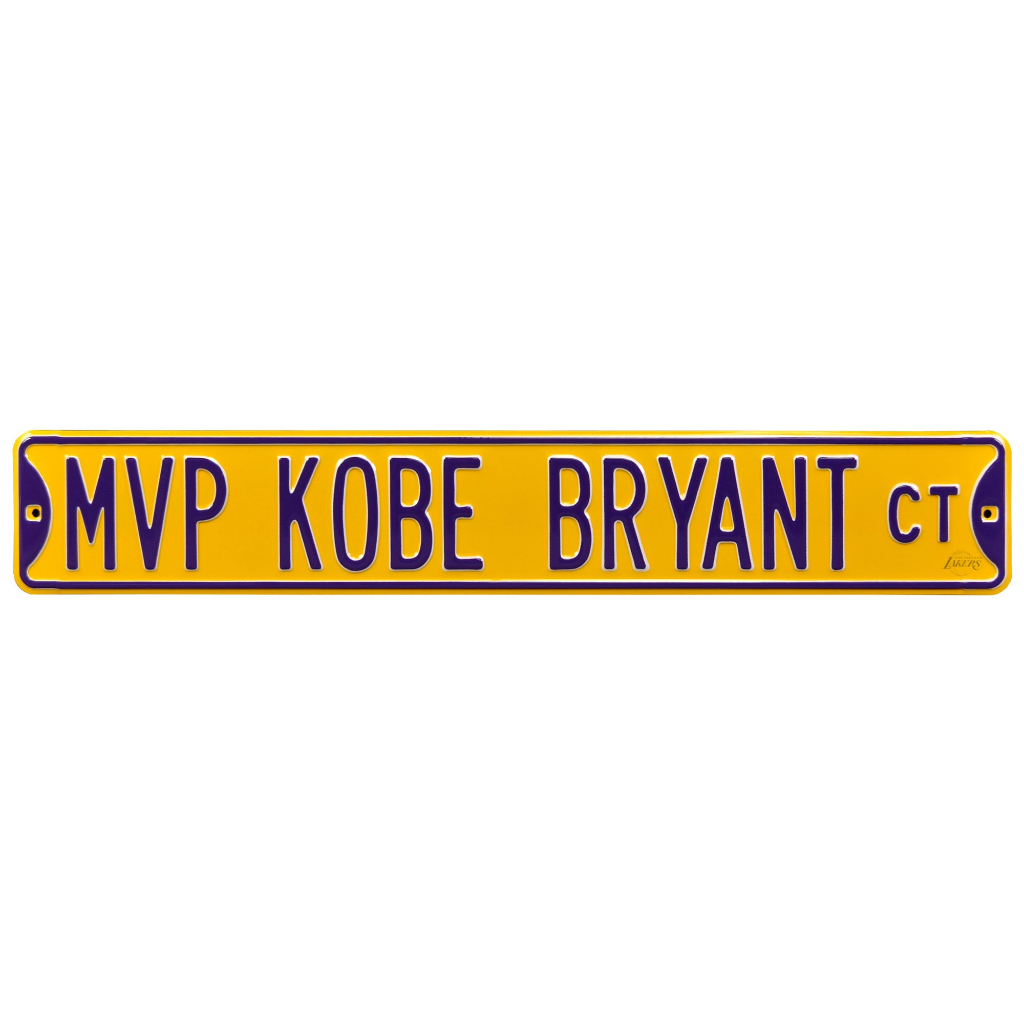"Kobe Bryant Los Angeles Lakers 6"" x 36"" MVP Steel Street Sign"