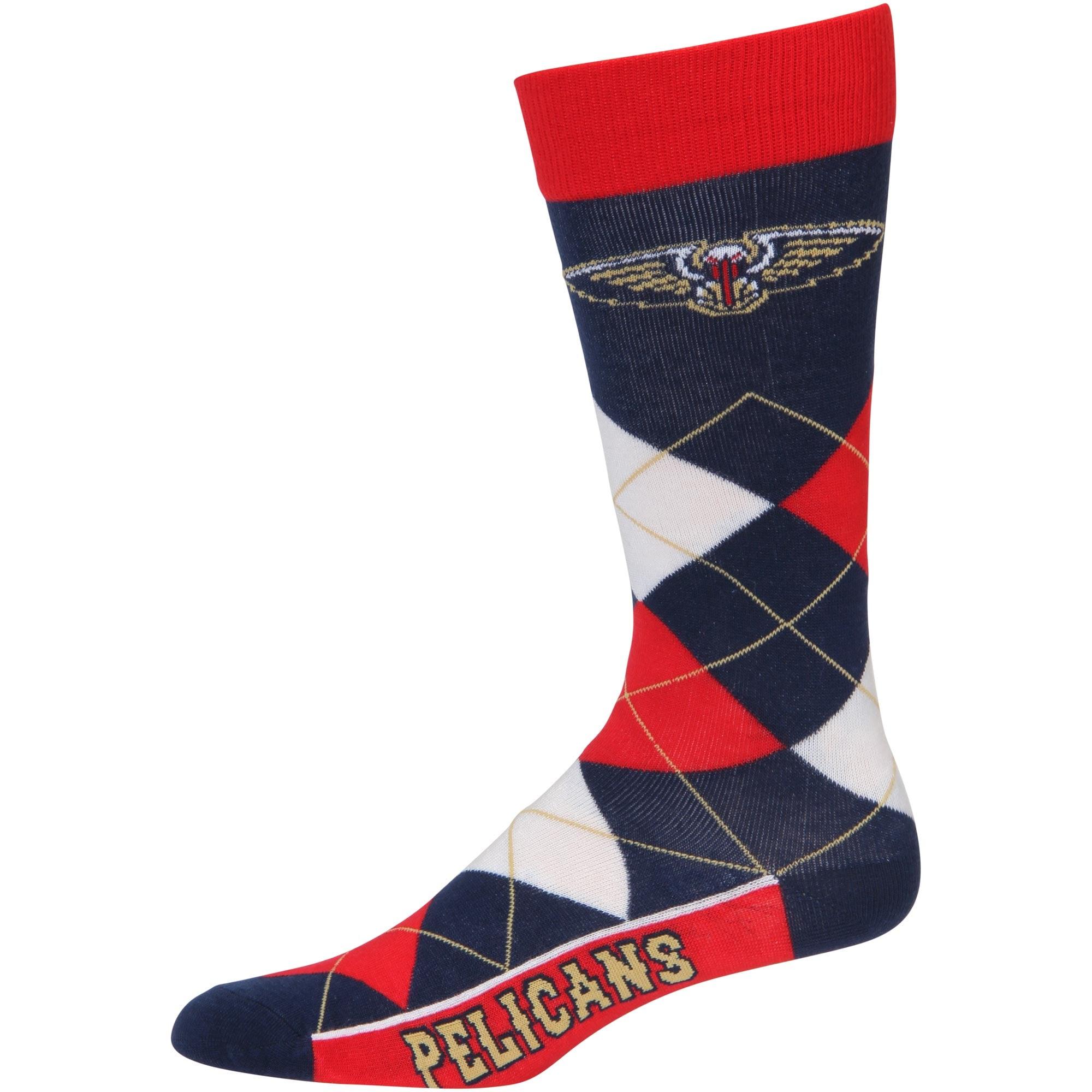 New Orleans Pelicans For Bare Feet Argyle Crew Socks