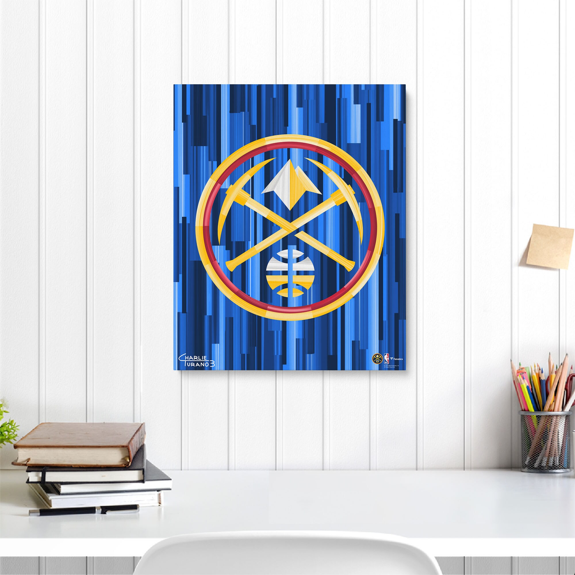 """Denver Nuggets Fanatics Authentic 16"""" x 20"""" Logo Gallery Wrapped Embellished Giclee"""