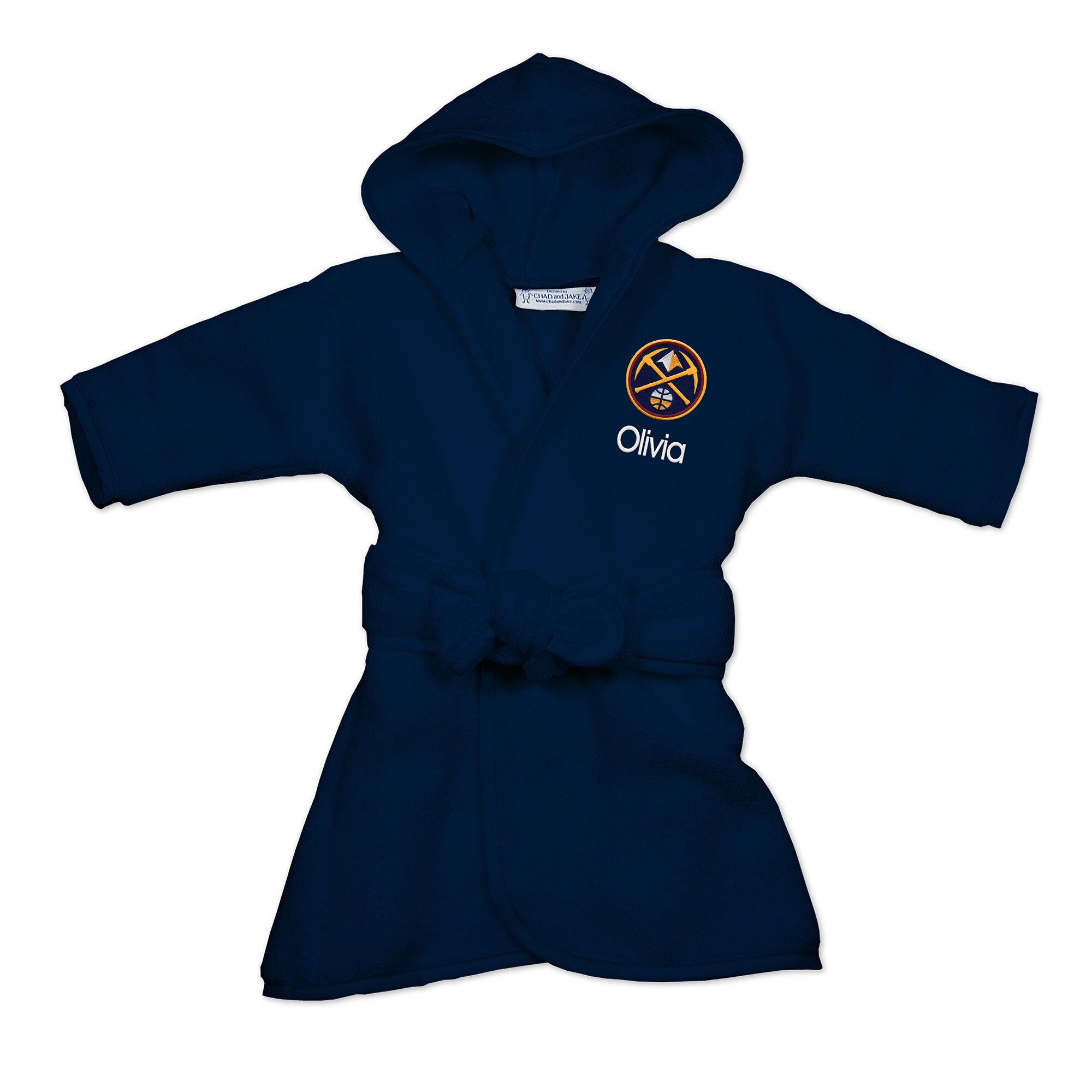 Denver Nuggets Infant Personalized Robe - Navy