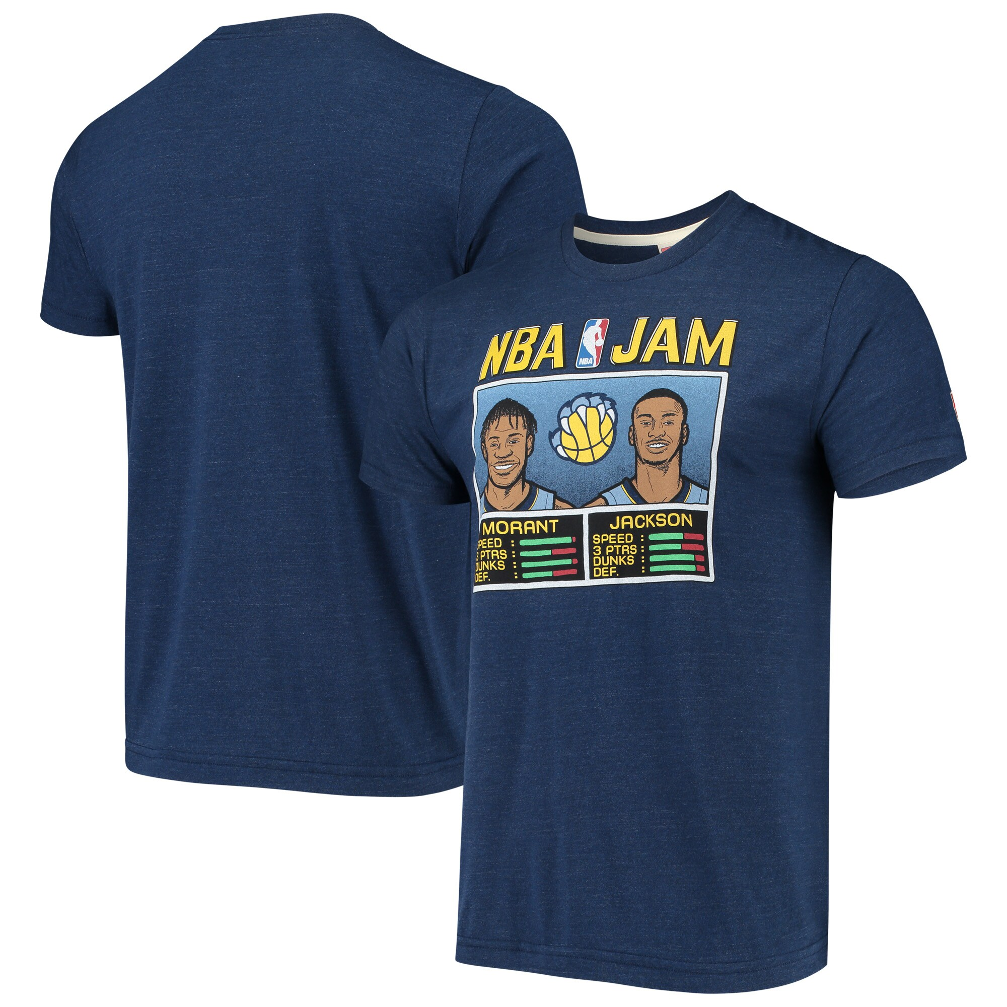 Ja Morant & Jaren Jackson Jr. Memphis Grizzlies NBA Jam T-Shirt - Navy