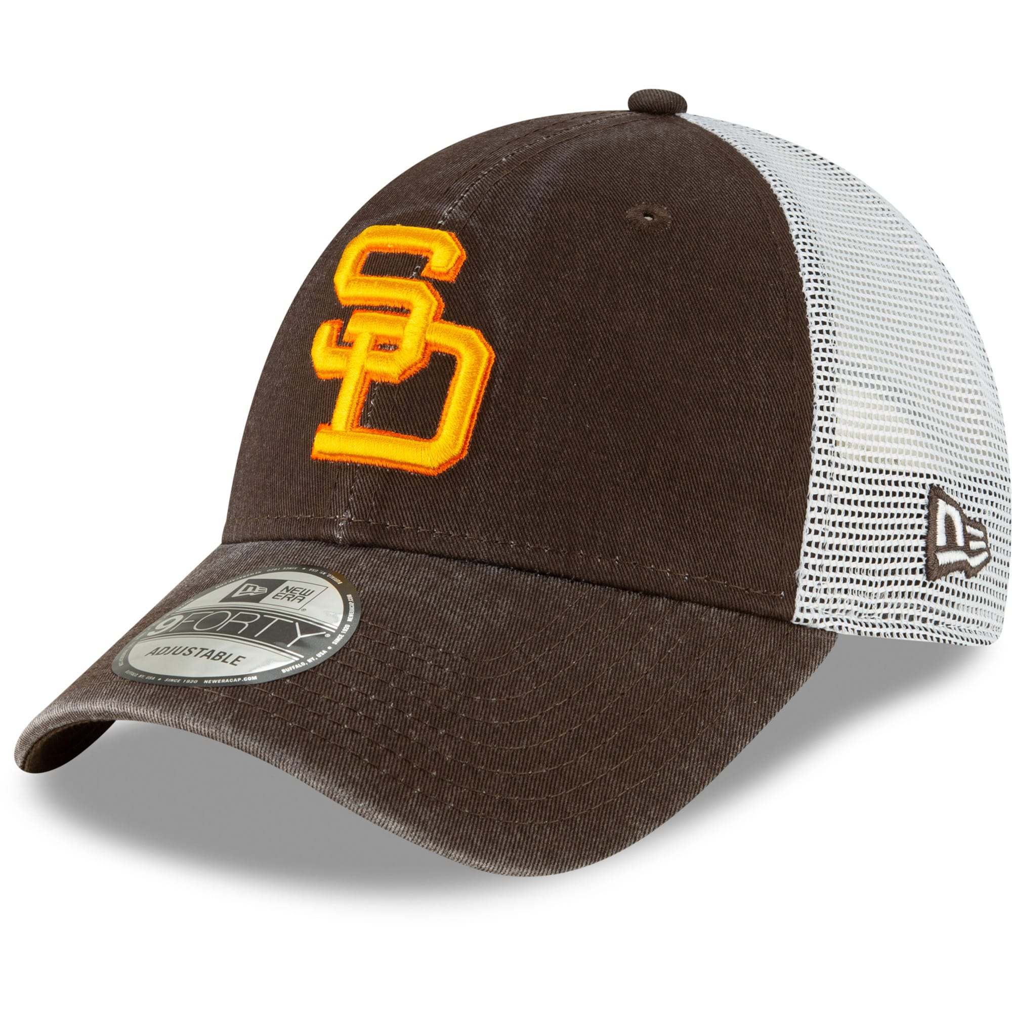 San Diego Padres New Era Cooperstown Collection 1980 Trucker 9FORTY Adjustable Hat - Brown