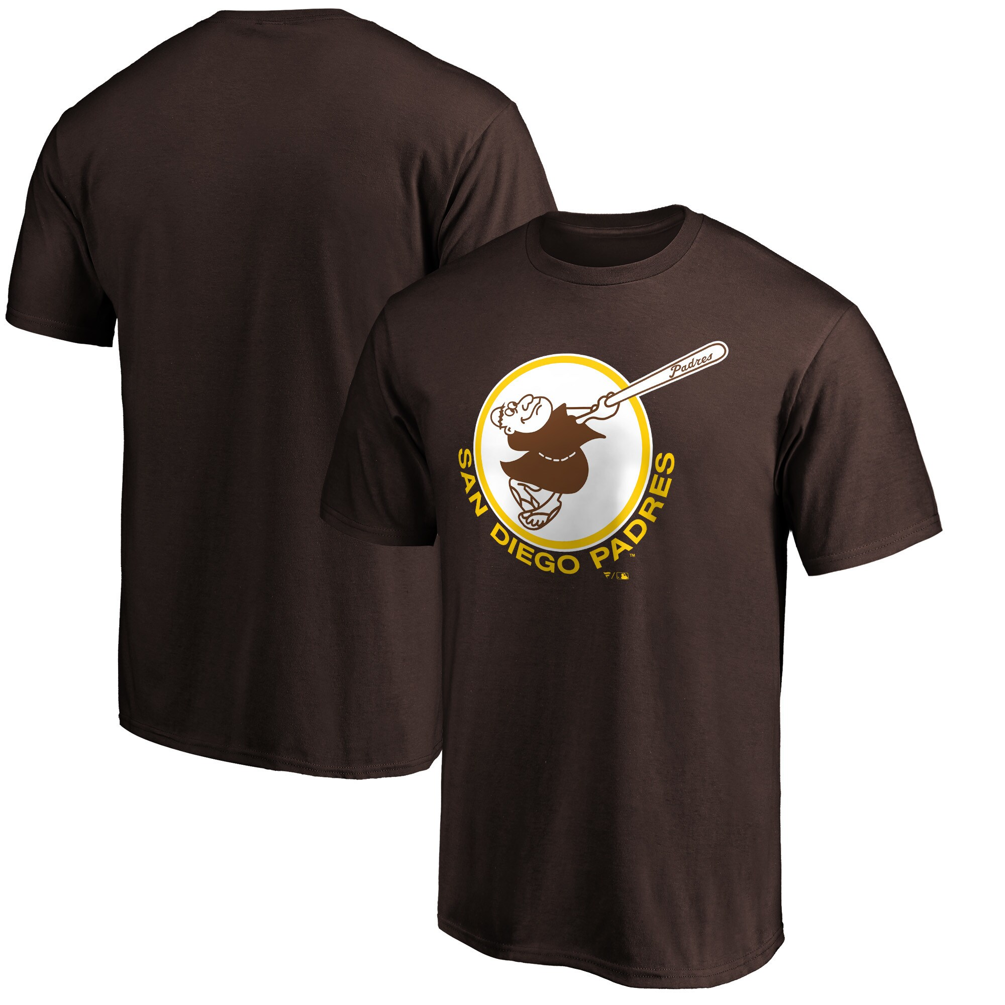 San Diego Padres Fanatics Branded Cooperstown Collection Forbes Team T-Shirt - Brown