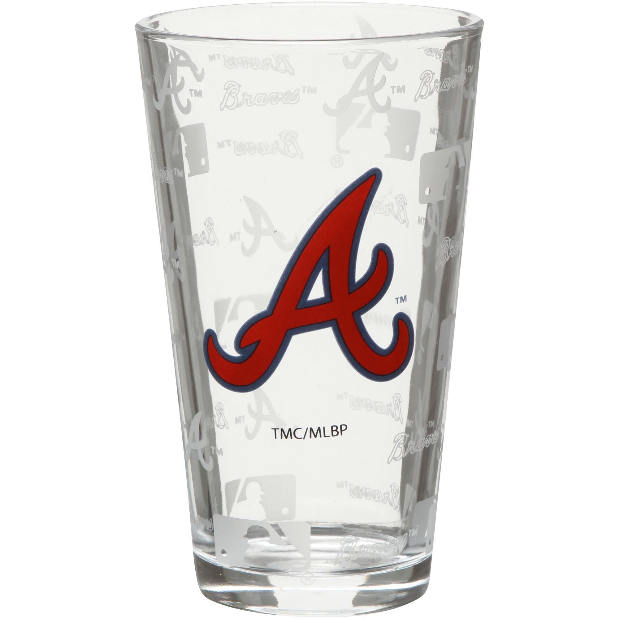 Atlanta Braves 16oz. Sandblasted Mixing Glass
