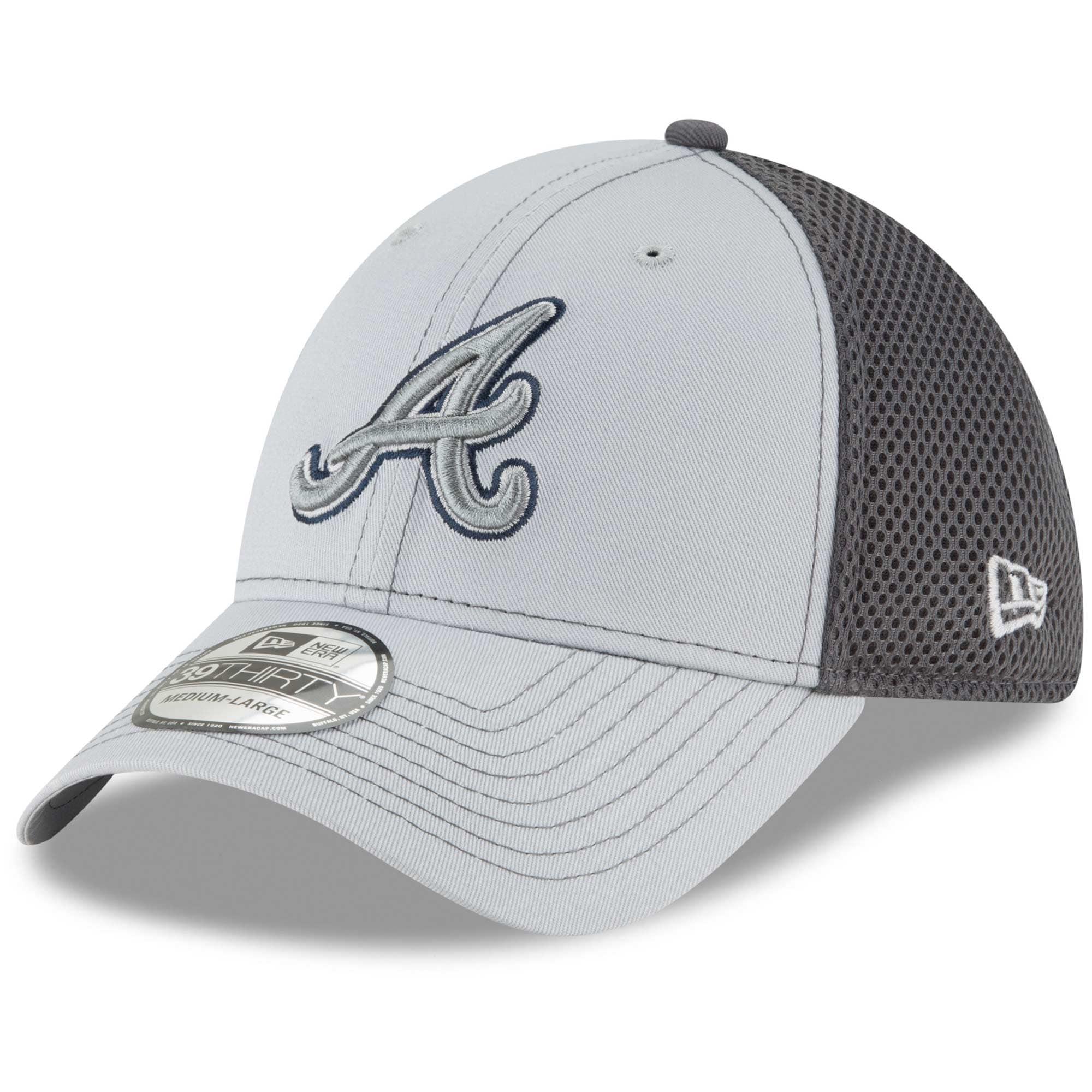Atlanta Braves New Era Grayed Out Neo 39THIRTY Flex Hat - Gray