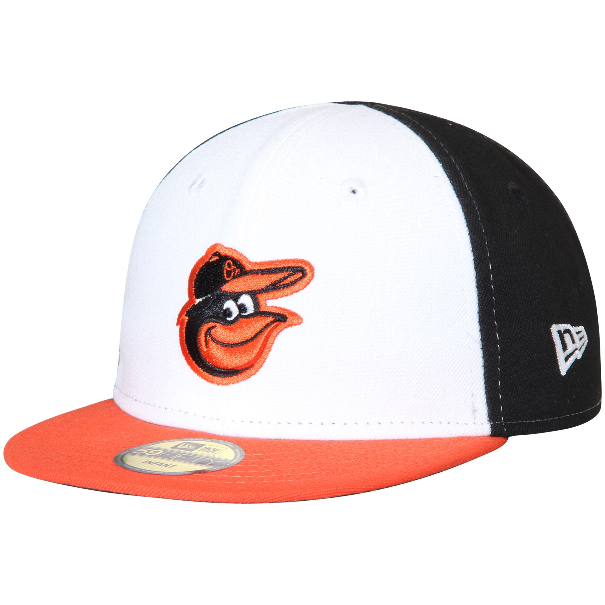 Baltimore Orioles New Era Infant Authentic Collection On-Field My First 59FIFTY Fitted Hat - White