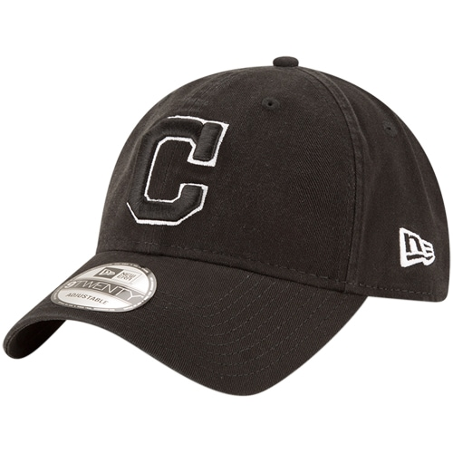 Cleveland Indians New Era Core Classic Twill 9TWENTY Adjustable Hat - Black