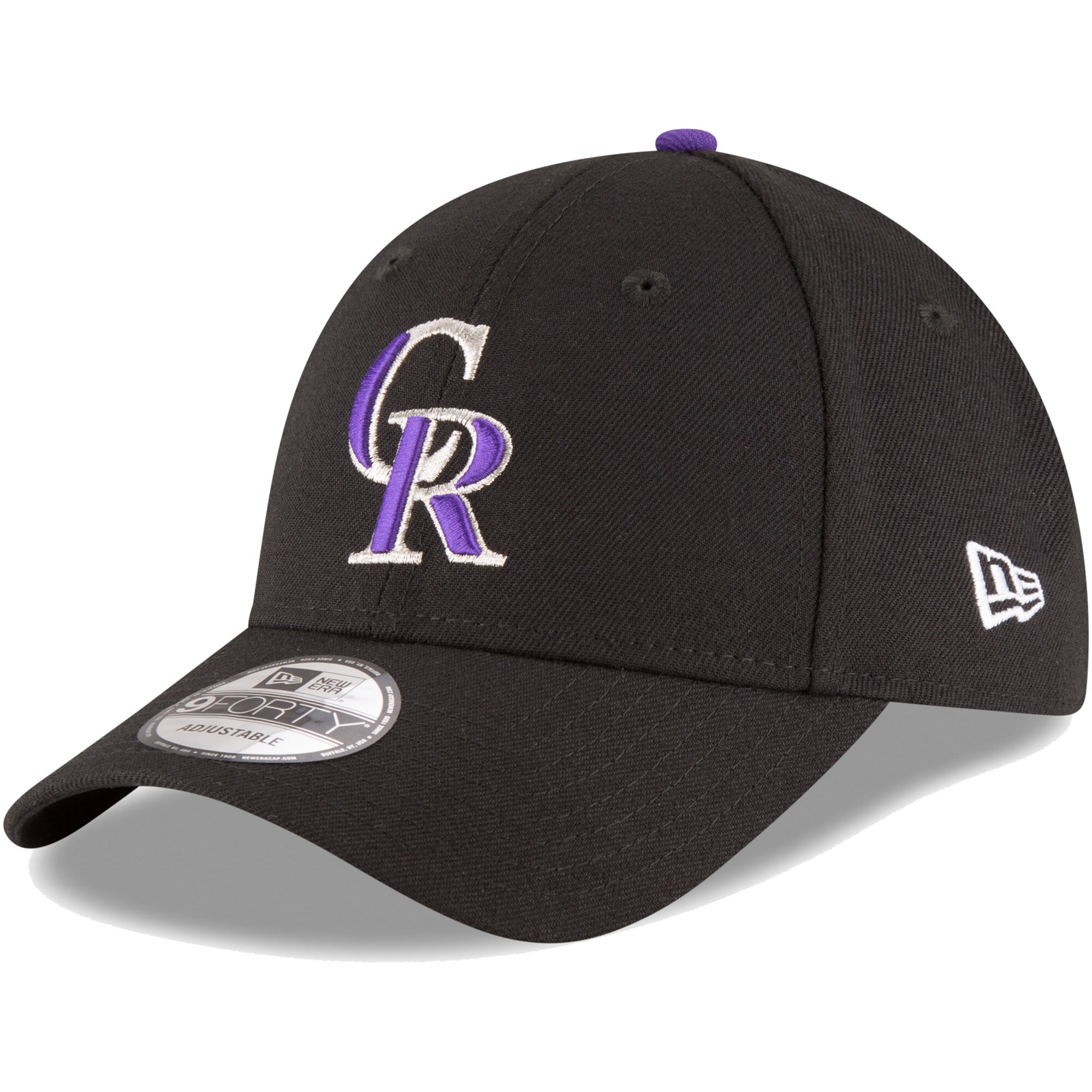 Colorado Rockies New Era Youth Game The League 9FORTY Adjustable Hat - Black
