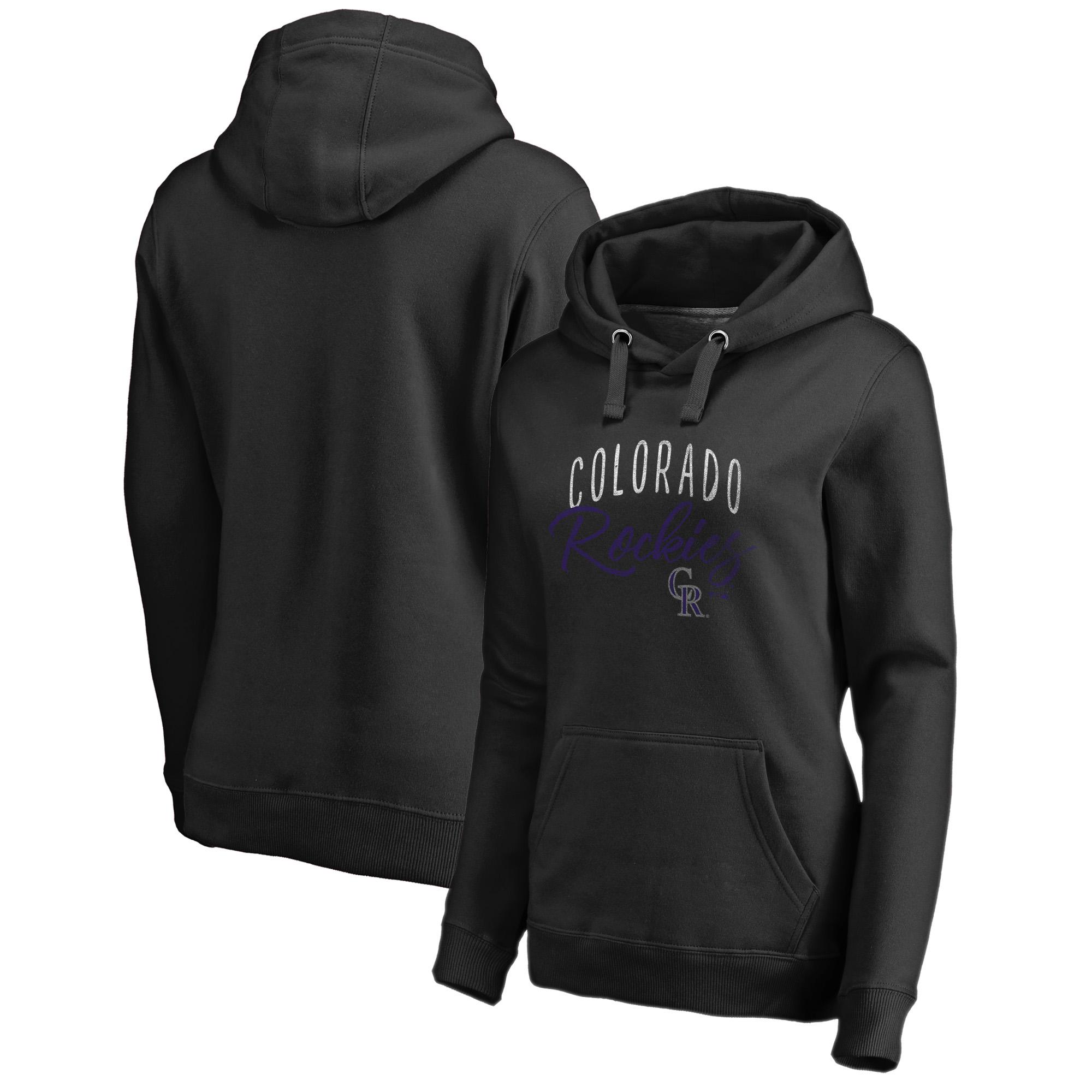 Colorado Rockies Fanatics Branded Women's Graceful Pullover Hoodie - Black