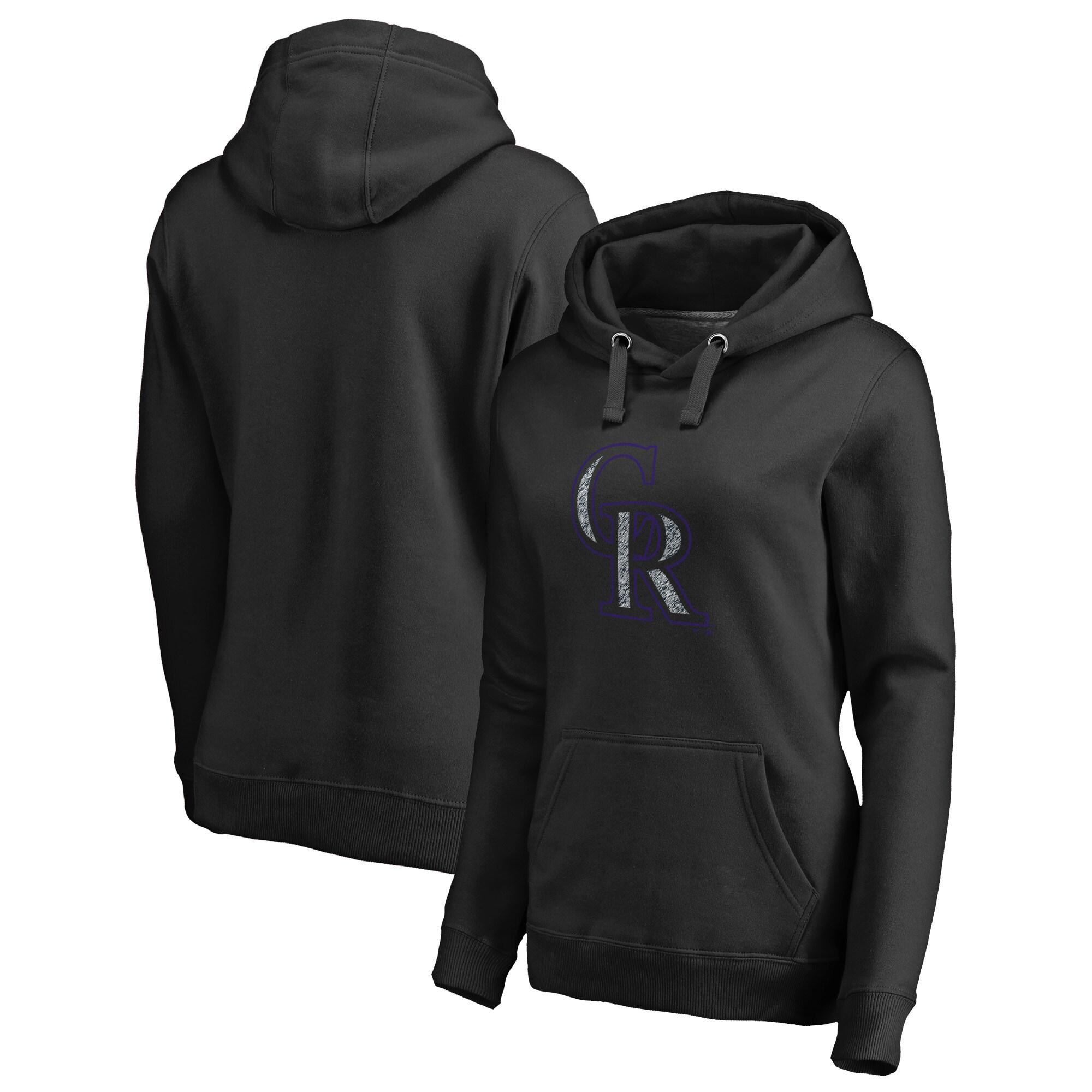 Colorado Rockies Fanatics Branded Women's Static Logo Pullover Hoodie - Black